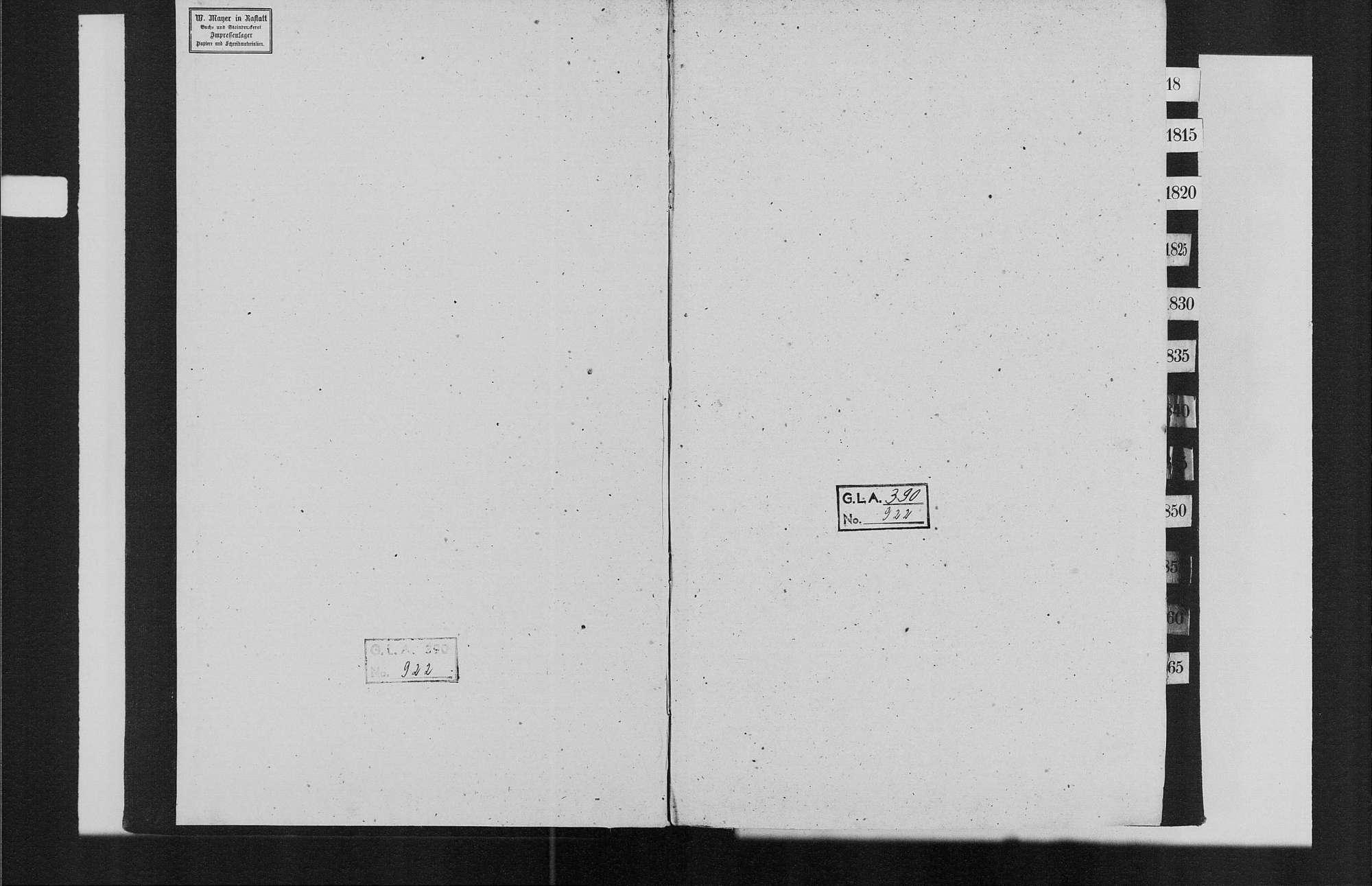 Stollhofen, israelitische Gemeinde: Standesbuch 1809-1870, Bild 2