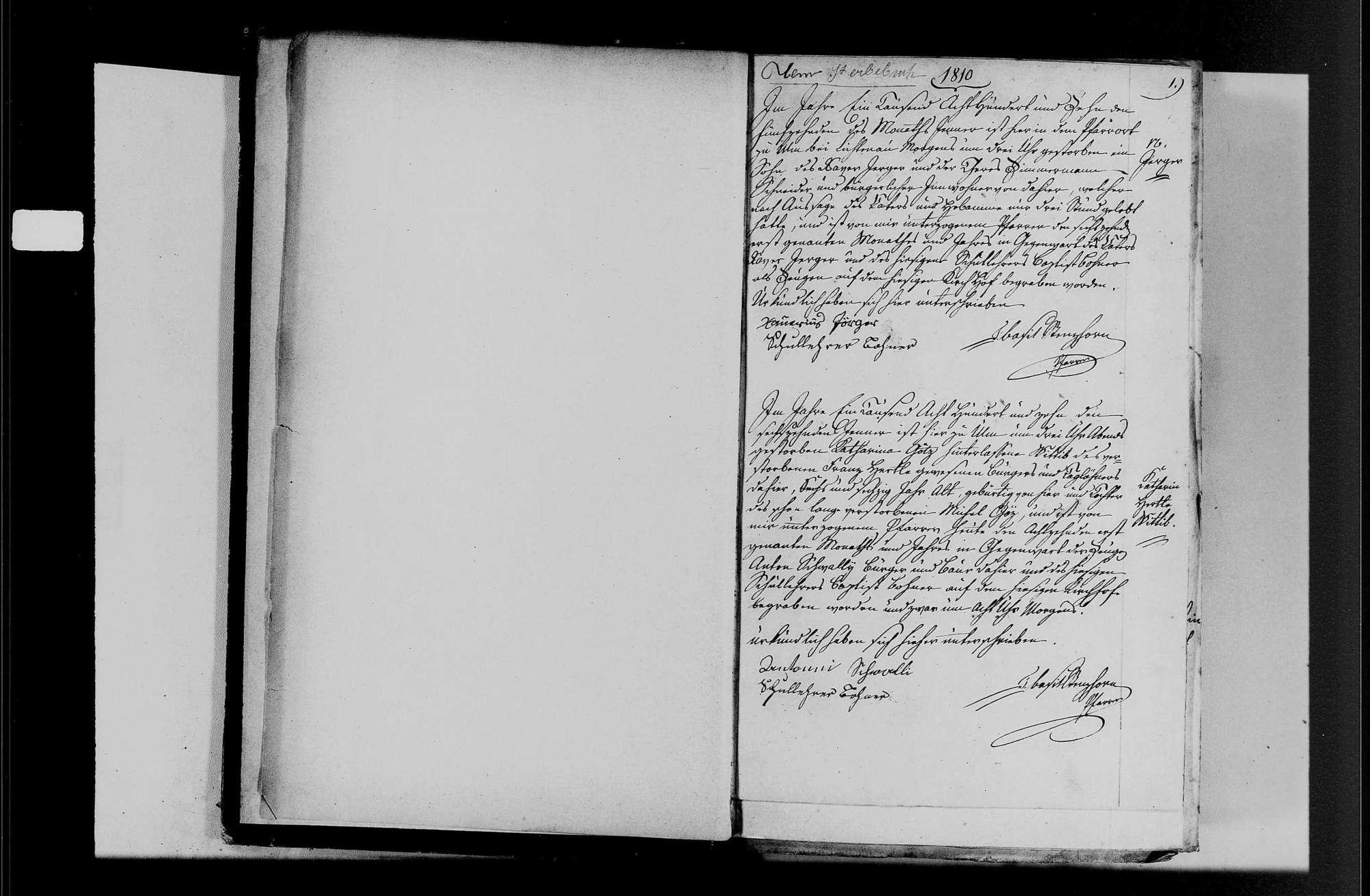 Ulm, katholische Gemeinde: Sterbebuch 1810-1870, Bild 3