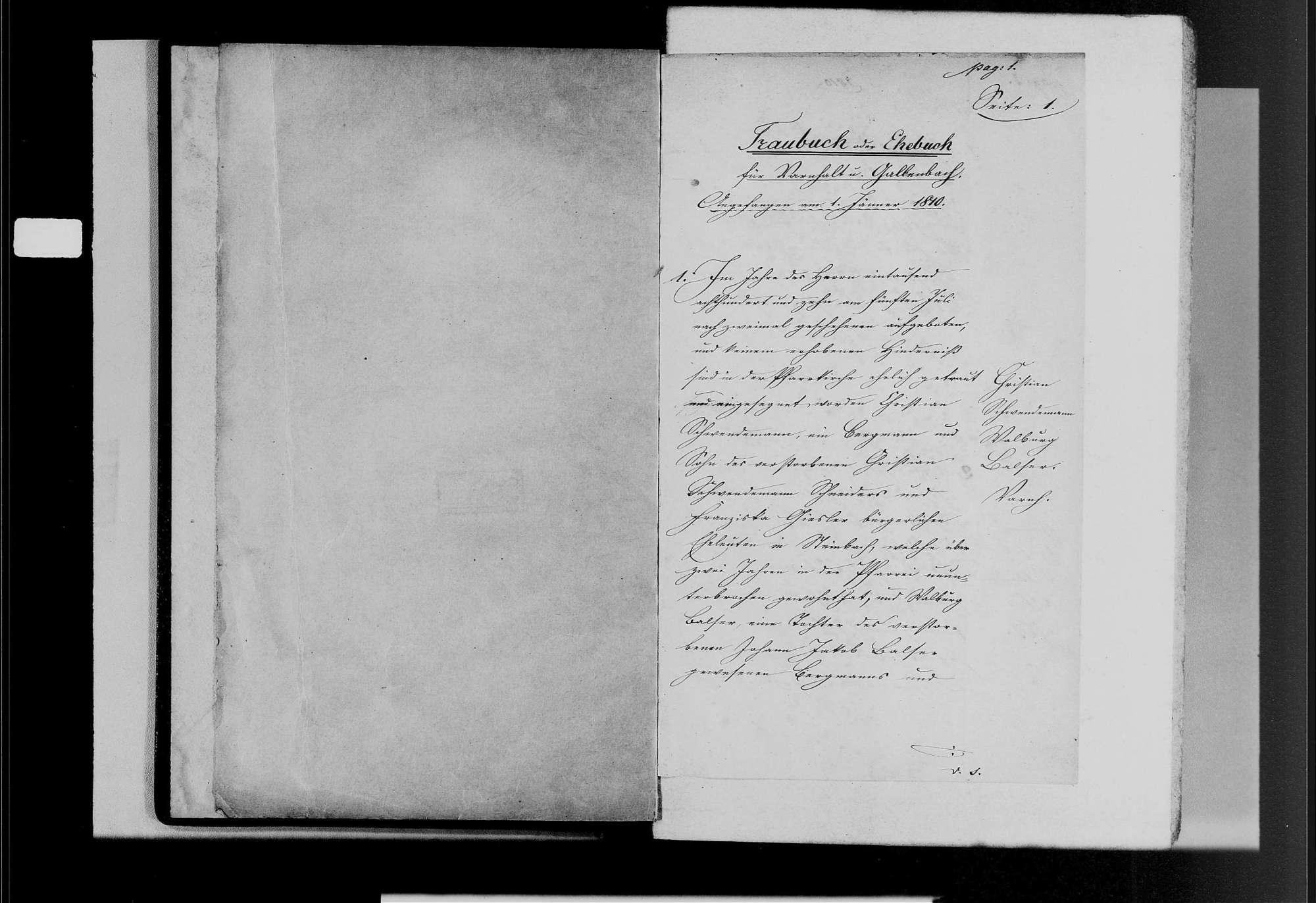 Varnhalt, katholische Gemeinde: Heiratsbuch 1810-1870, Bild 3