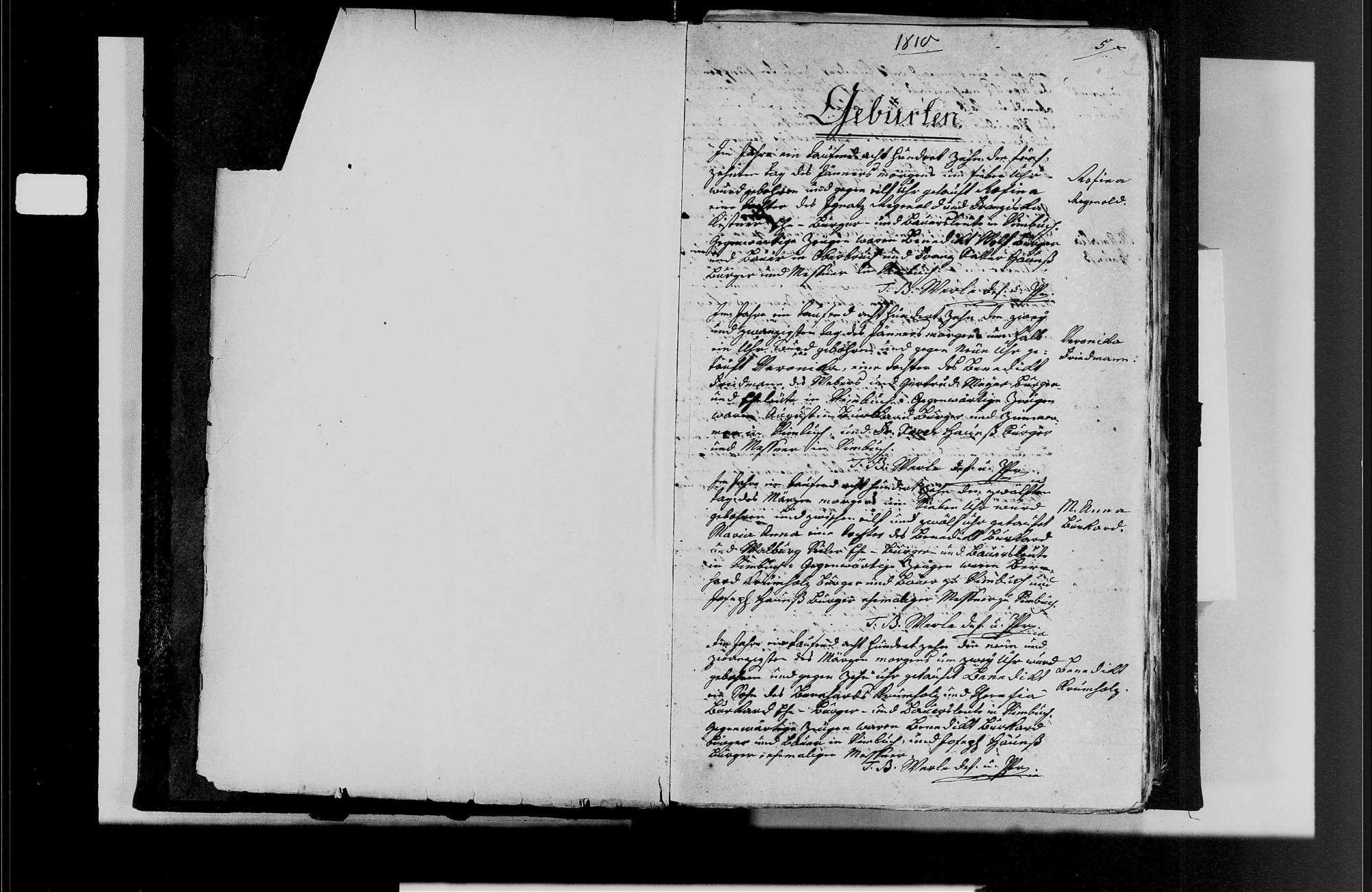 Vimbuch, katholische Gemeinde: Geburtenbuch 1810-1870, Bild 3