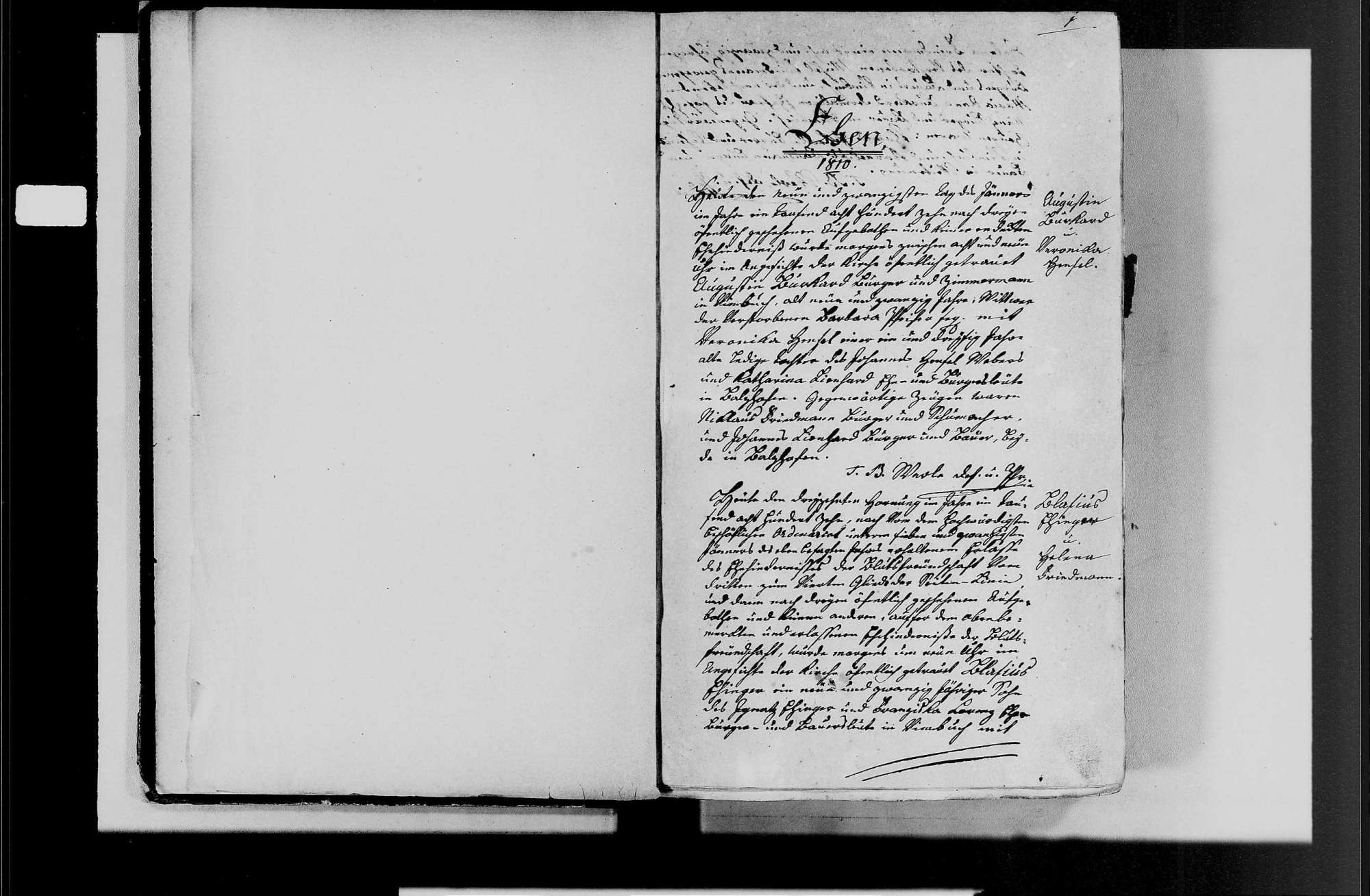 Vimbuch, katholische Gemeinde: Heirats- und Sterbebuch 1810-1870, Bild 3