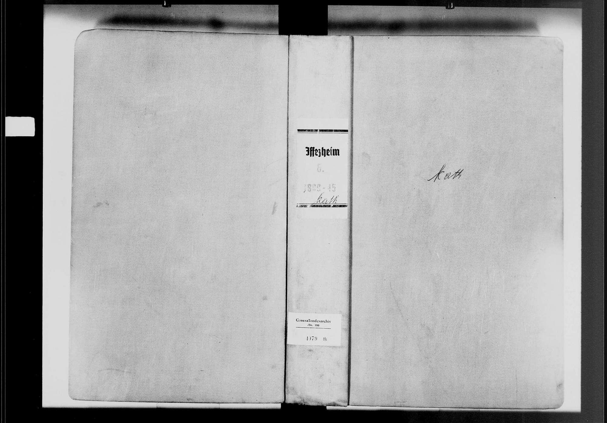 Iffezheim, katholische Gemeinde: Geburtenbuch 1809-1845, Bild 1