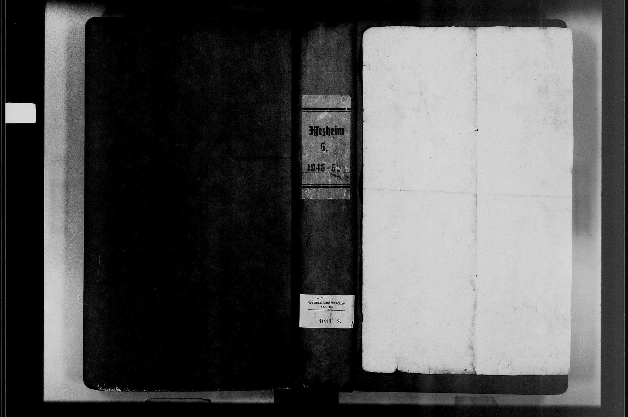 Iffezheim, katholische Gemeinde: Geburtenbuch 1846-1869, Bild 1