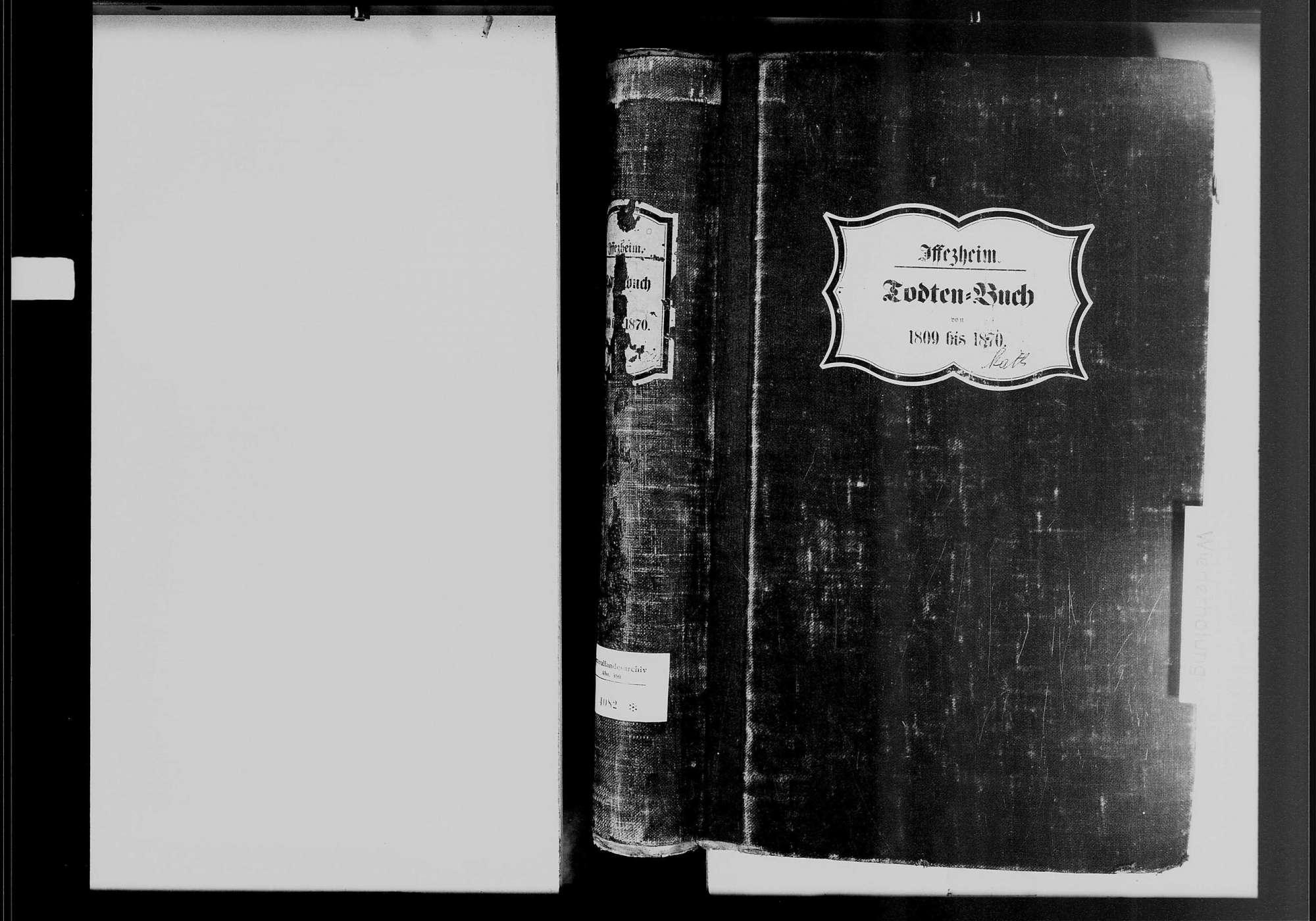 Iffezheim, katholische Gemeinde: Sterbebuch 1809-1870, Bild 2