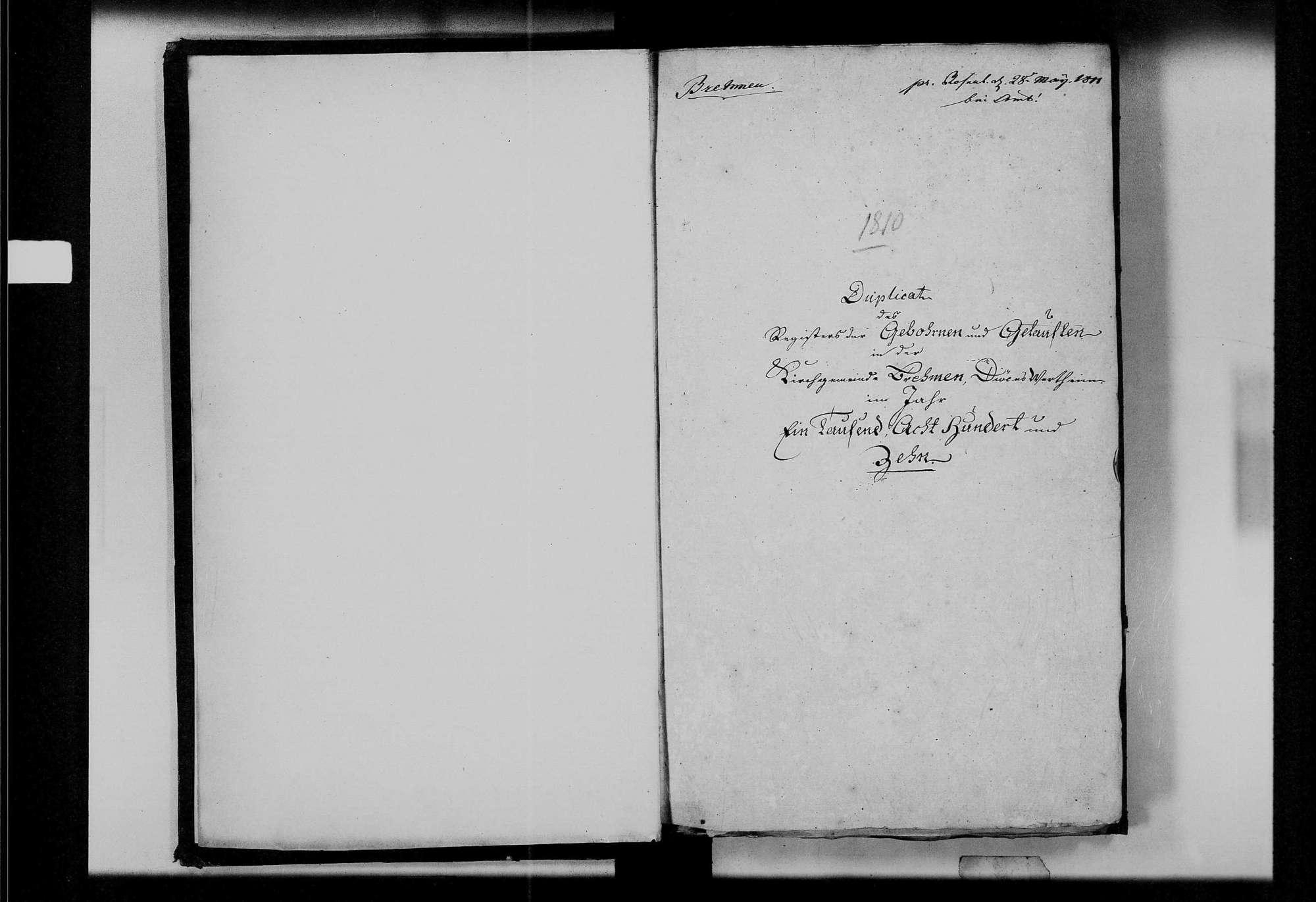 Brehmen, evangelische Gemeinde: Standesbuch 1810-1819, Bild 3
