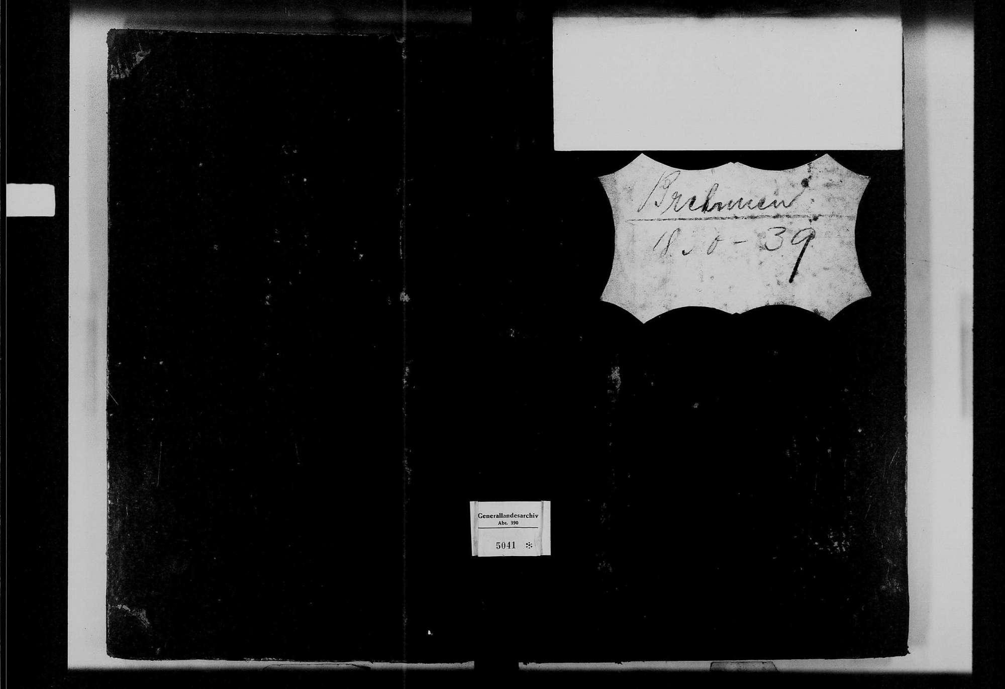 Brehmen, evangelische Gemeinde: Standesbuch 1830-1839, Bild 1