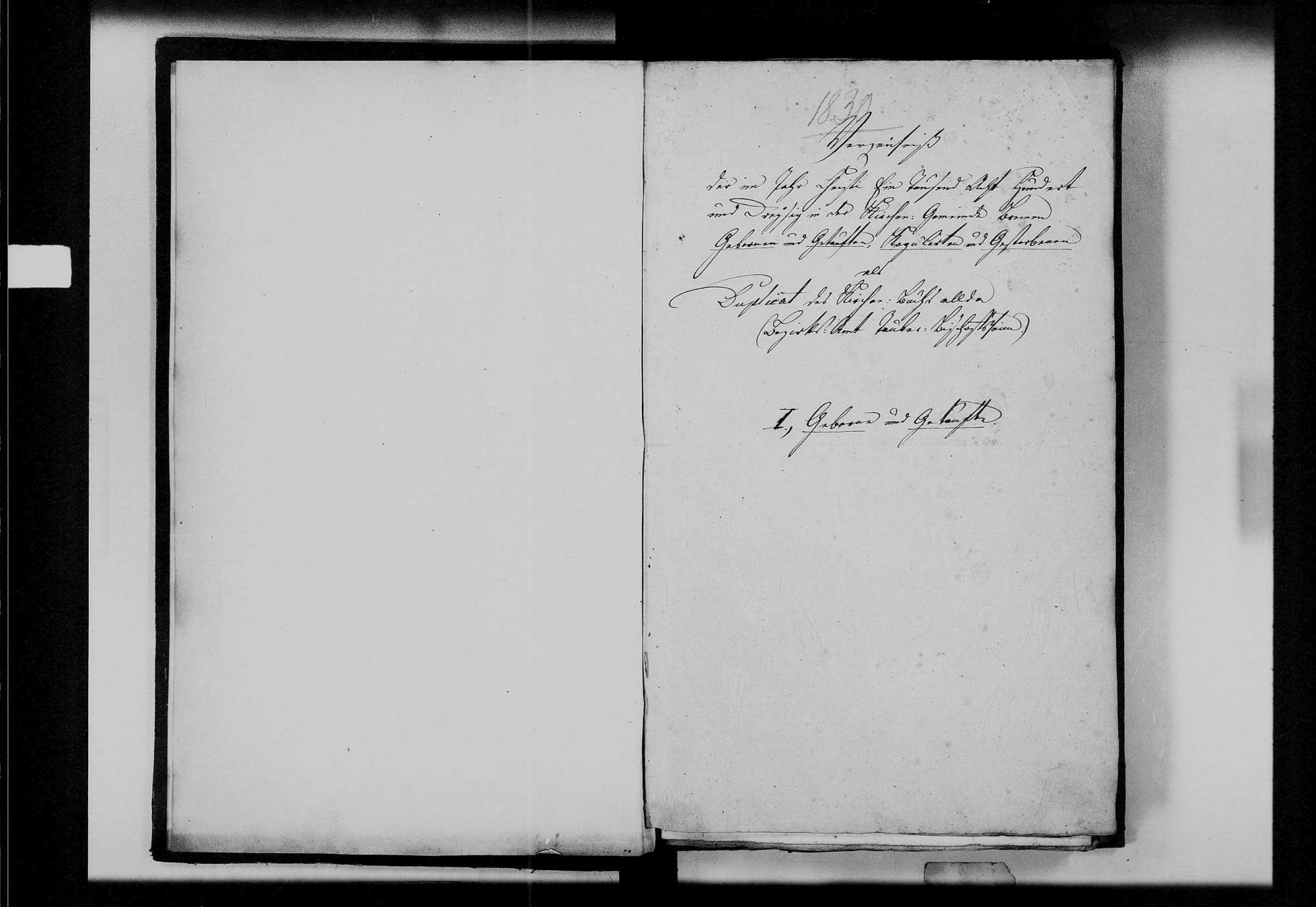 Brehmen, evangelische Gemeinde: Standesbuch 1830-1839, Bild 3