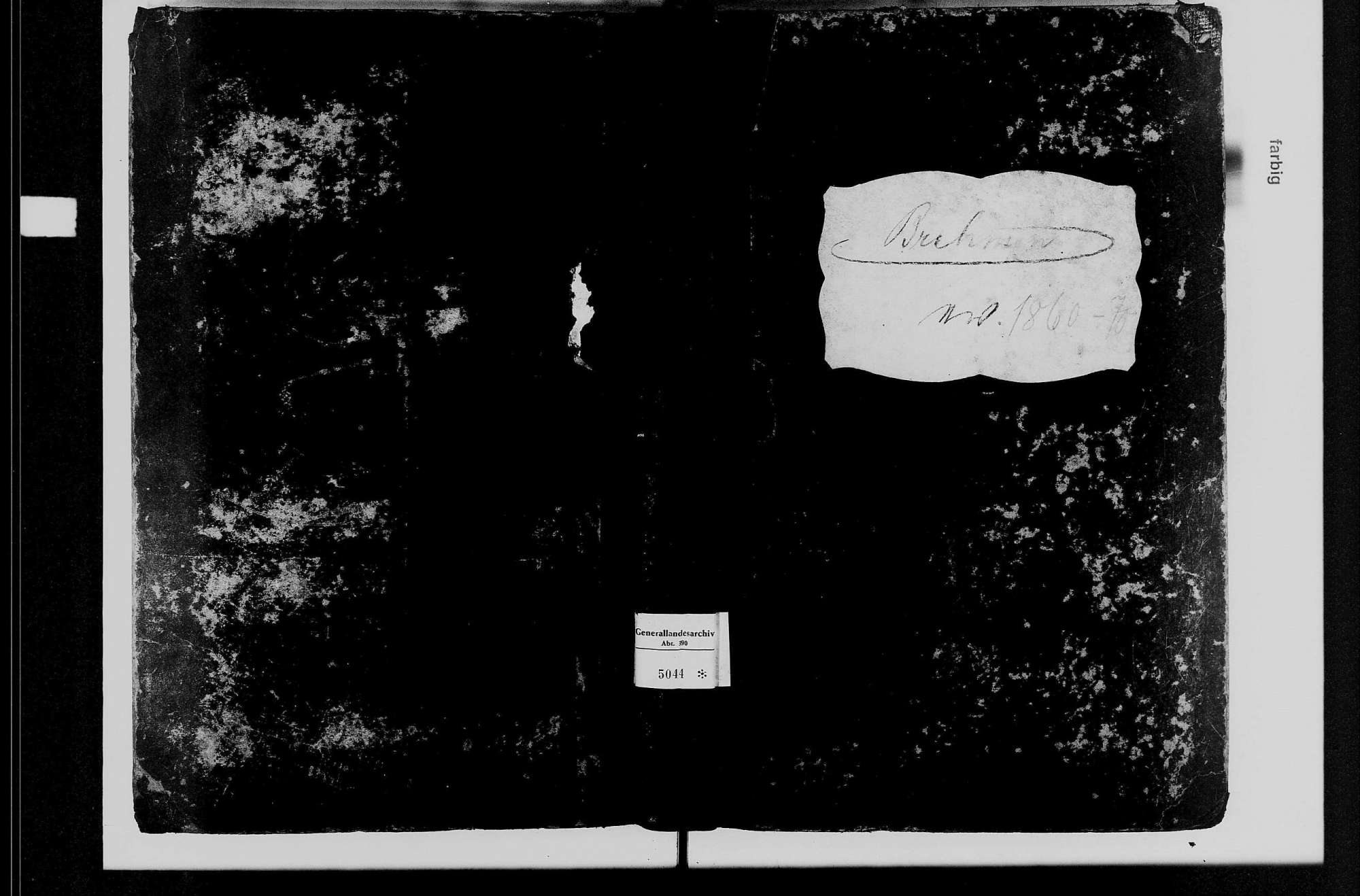 Brehmen, evangelische Gemeinde: Standesbuch 1860-1870, Bild 2