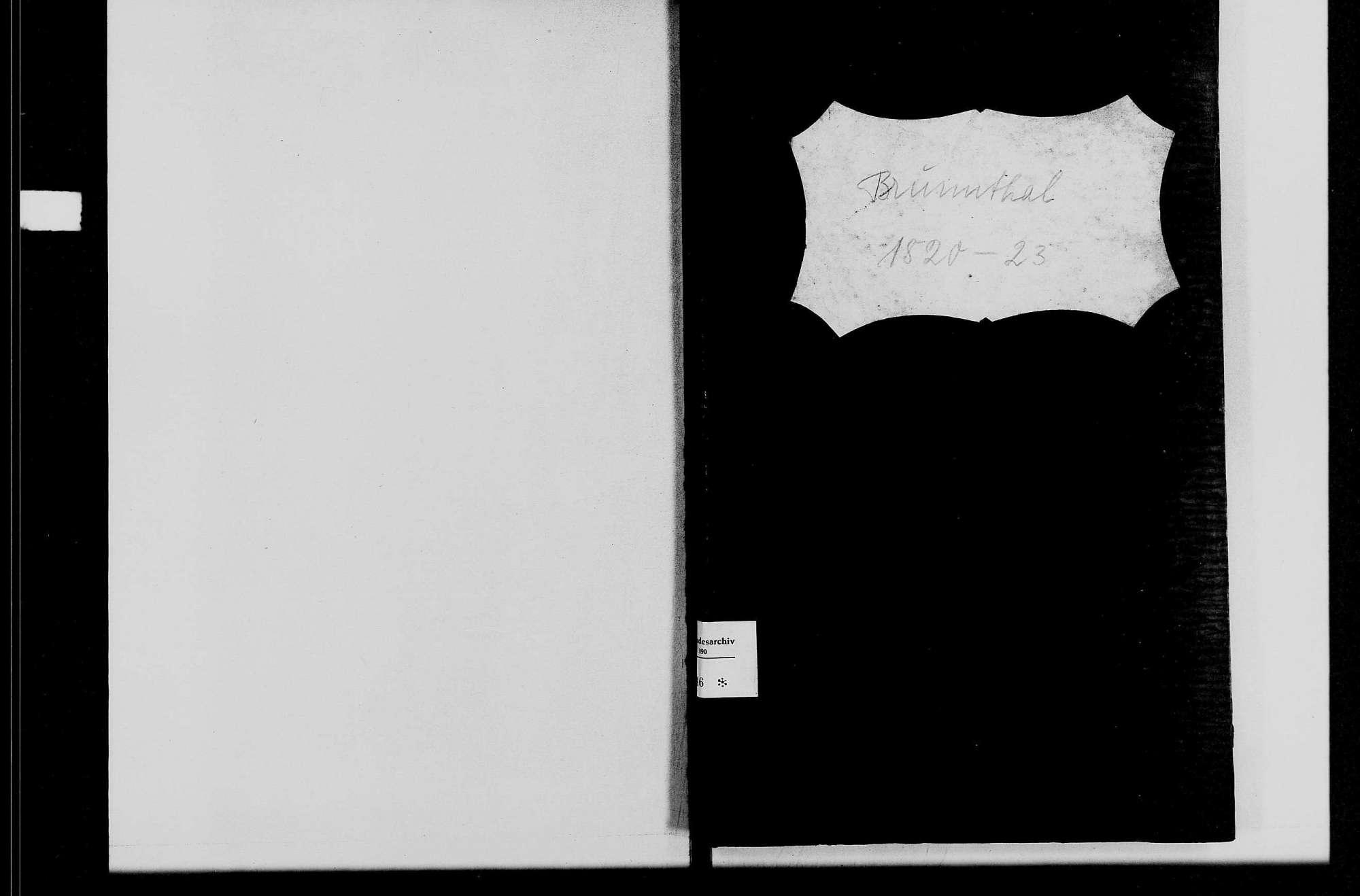 Brunntal, katholische Gemeinde: Standesbuch 1820-1823, Bild 1