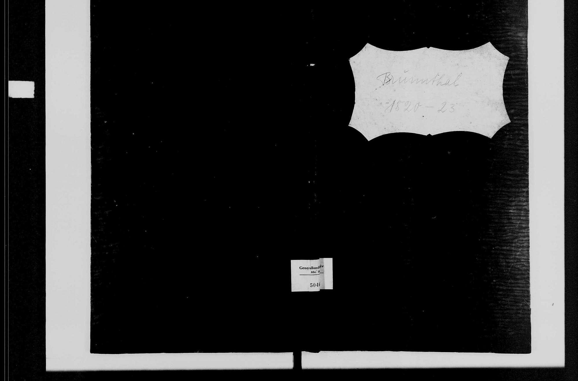 Brunntal, katholische Gemeinde: Standesbuch 1820-1823, Bild 2