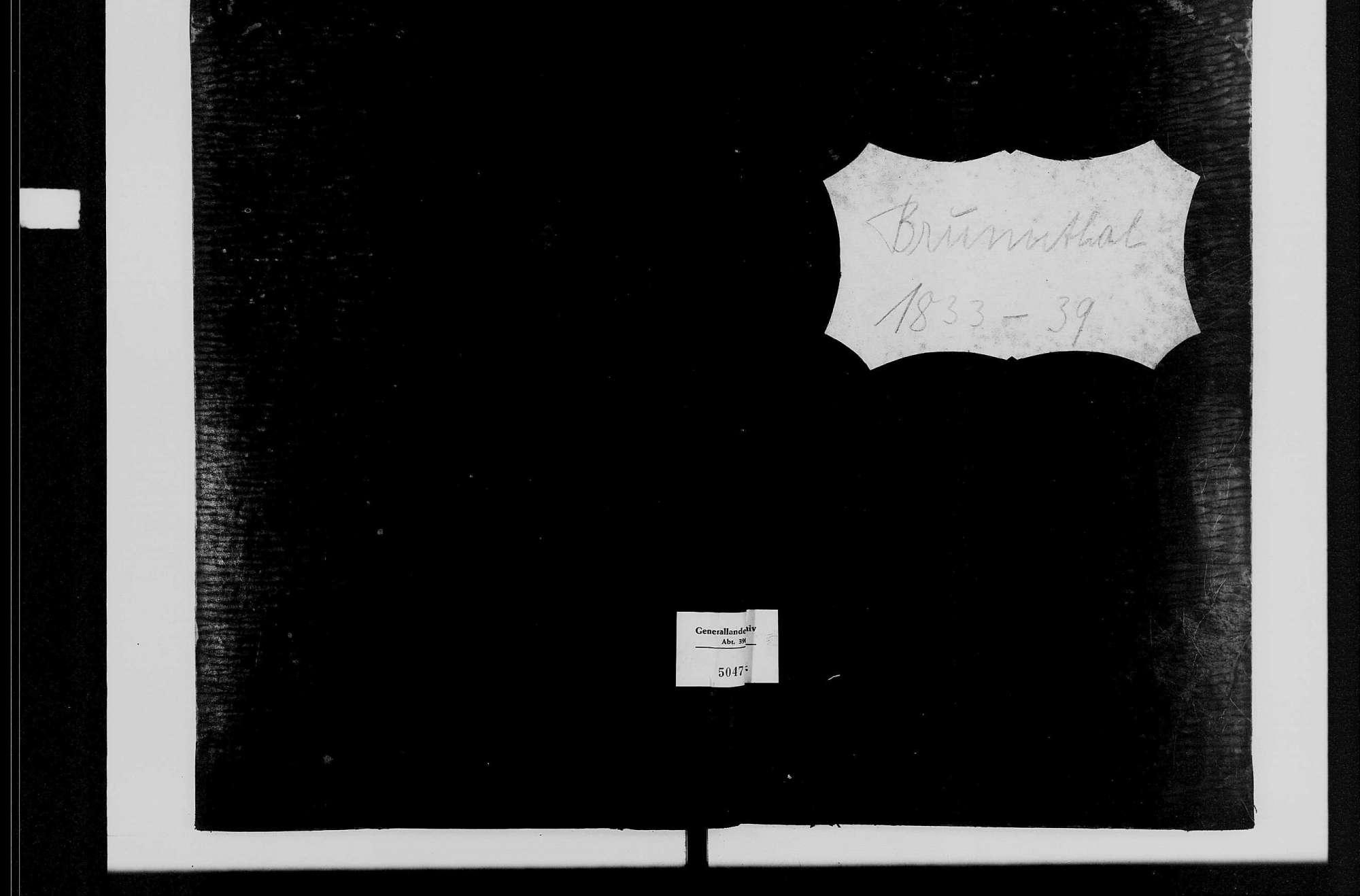 Brunntal, katholische Gemeinde: Standesbuch 1833-1839, Bild 2