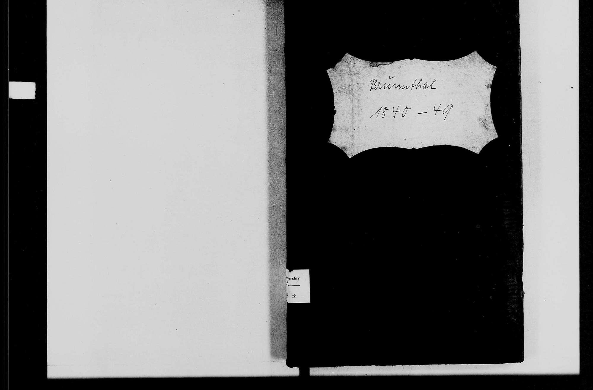 Brunntal, katholische Gemeinde: Standesbuch 1840-1849, Bild 1