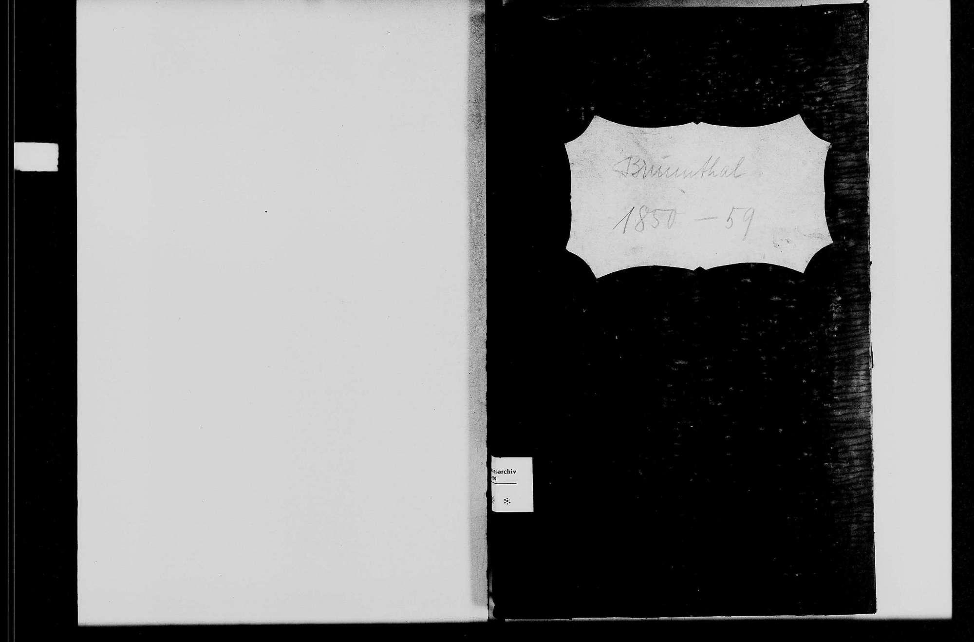 Brunntal, katholische Gemeinde: Standesbuch 1850-1859, Bild 1