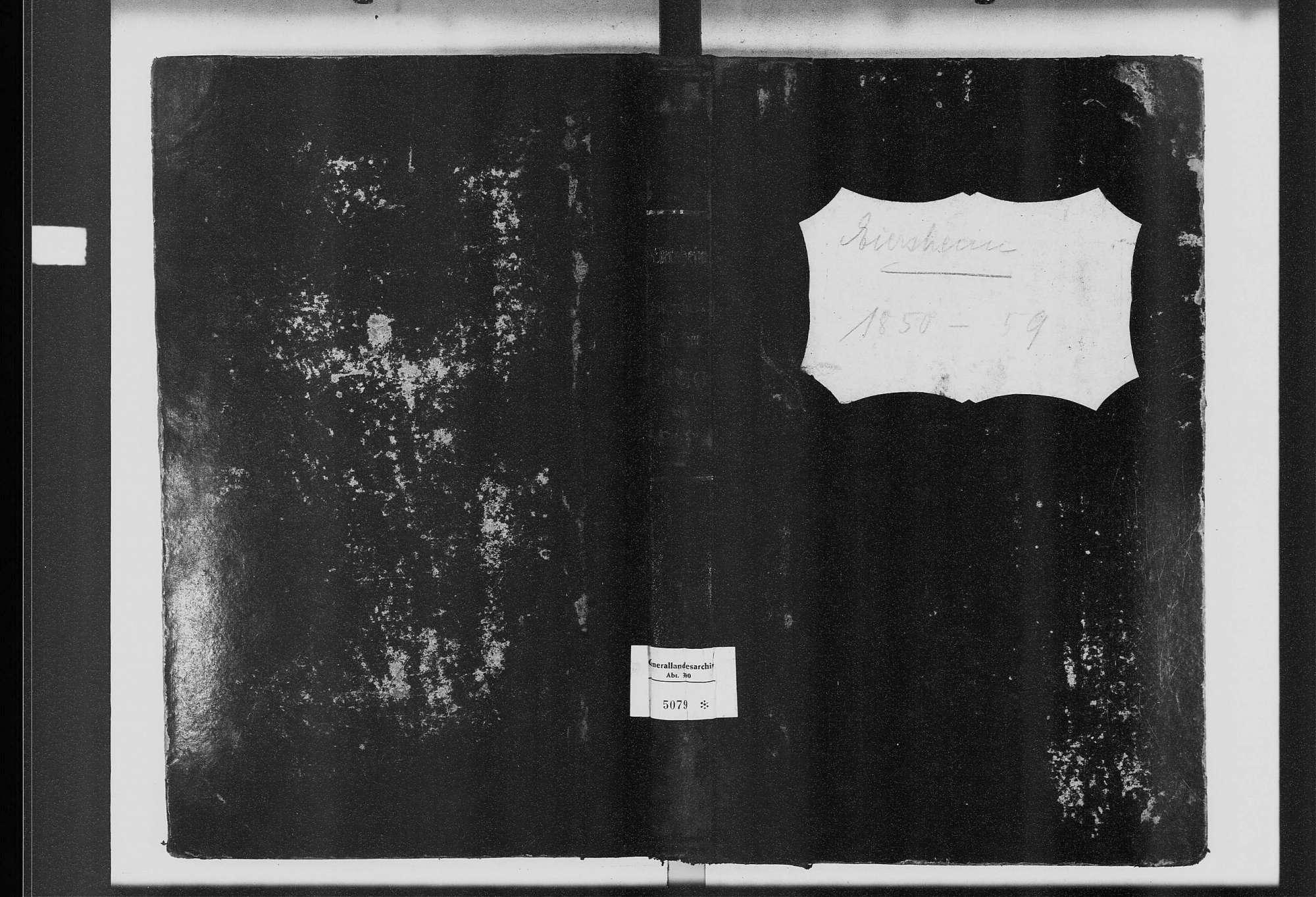 Eiersheim, katholische Gemeinde: Standesbuch 1850-1859, Bild 2