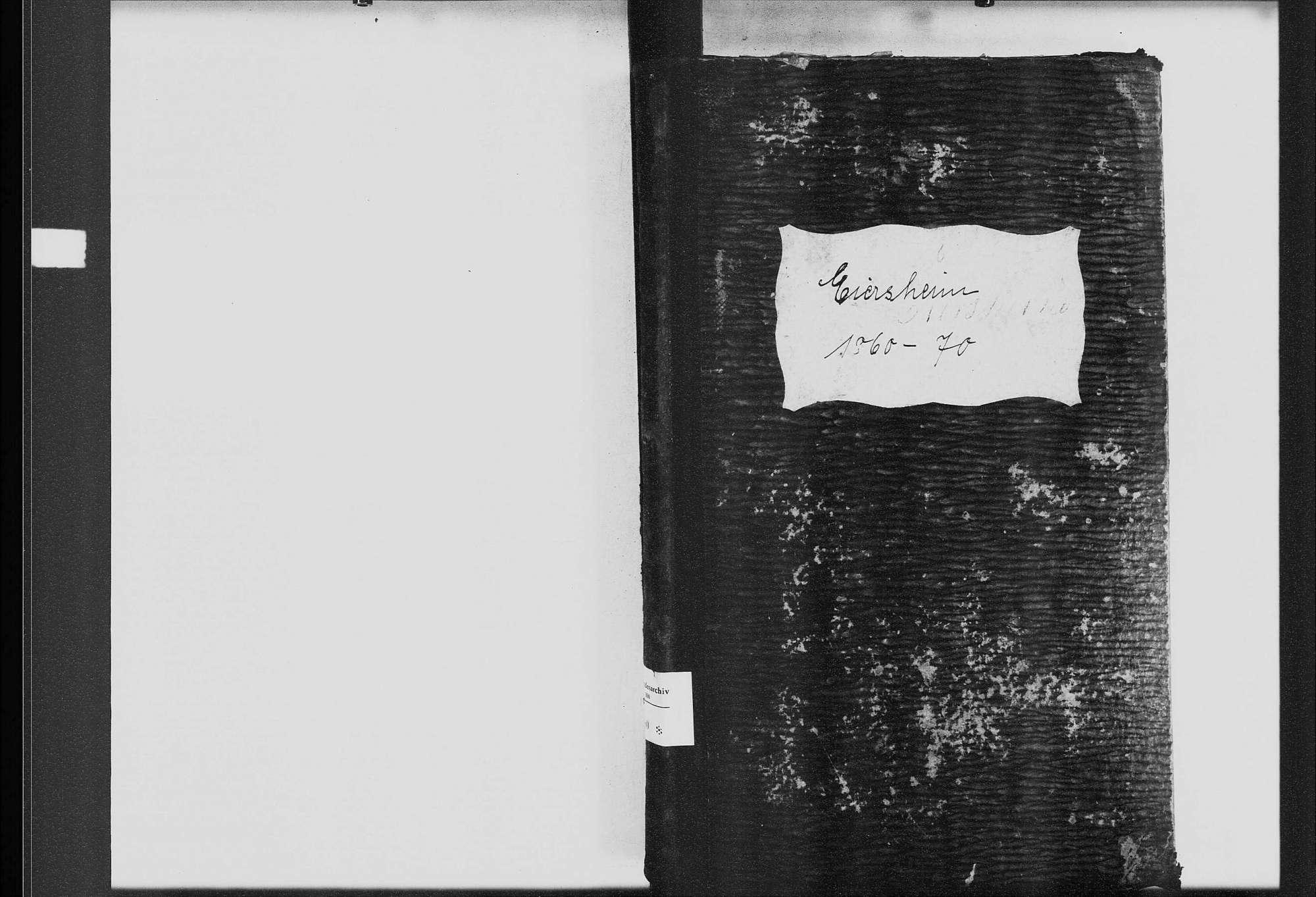 Eiersheim, katholische Gemeinde: Standesbuch 1860-1870, Bild 1