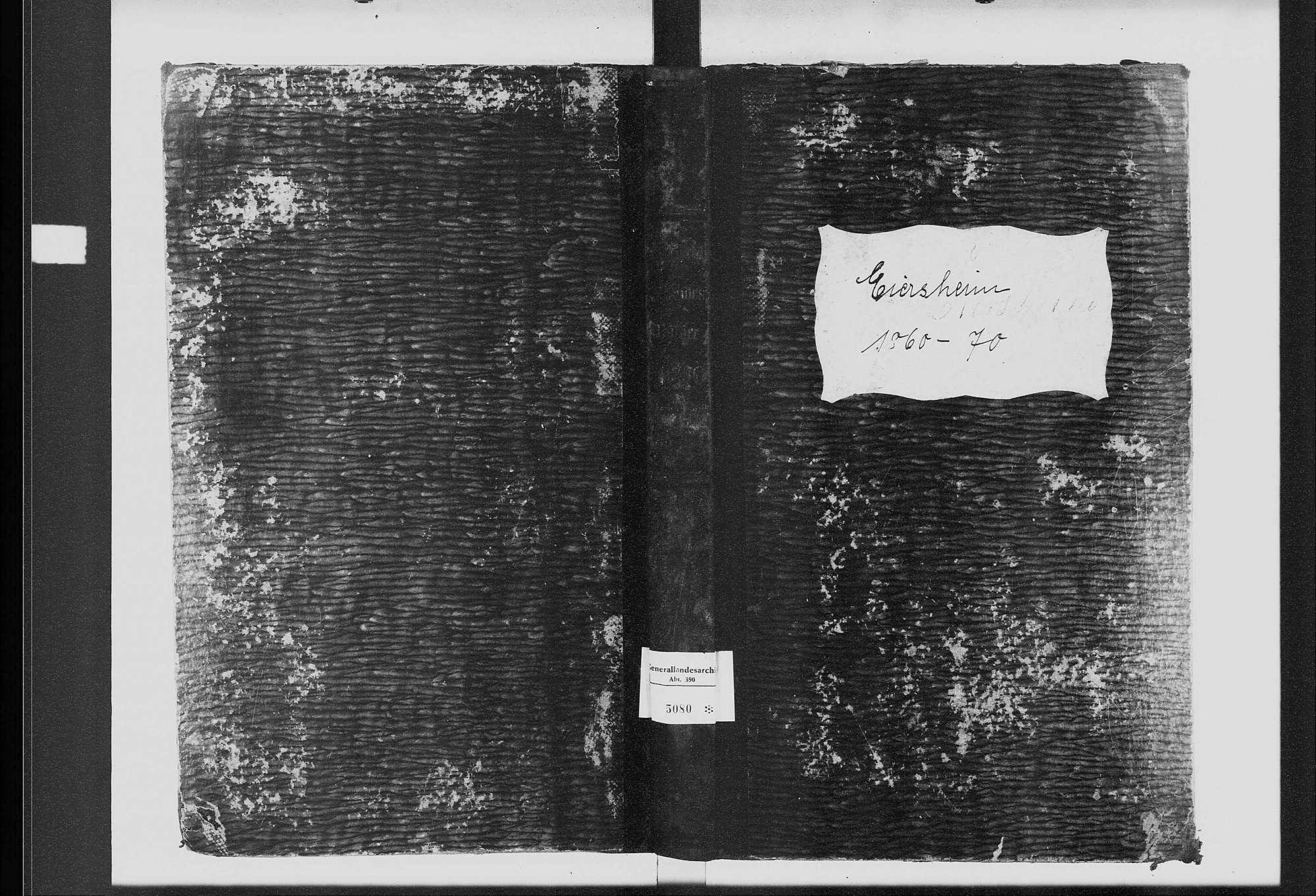 Eiersheim, katholische Gemeinde: Standesbuch 1860-1870, Bild 2