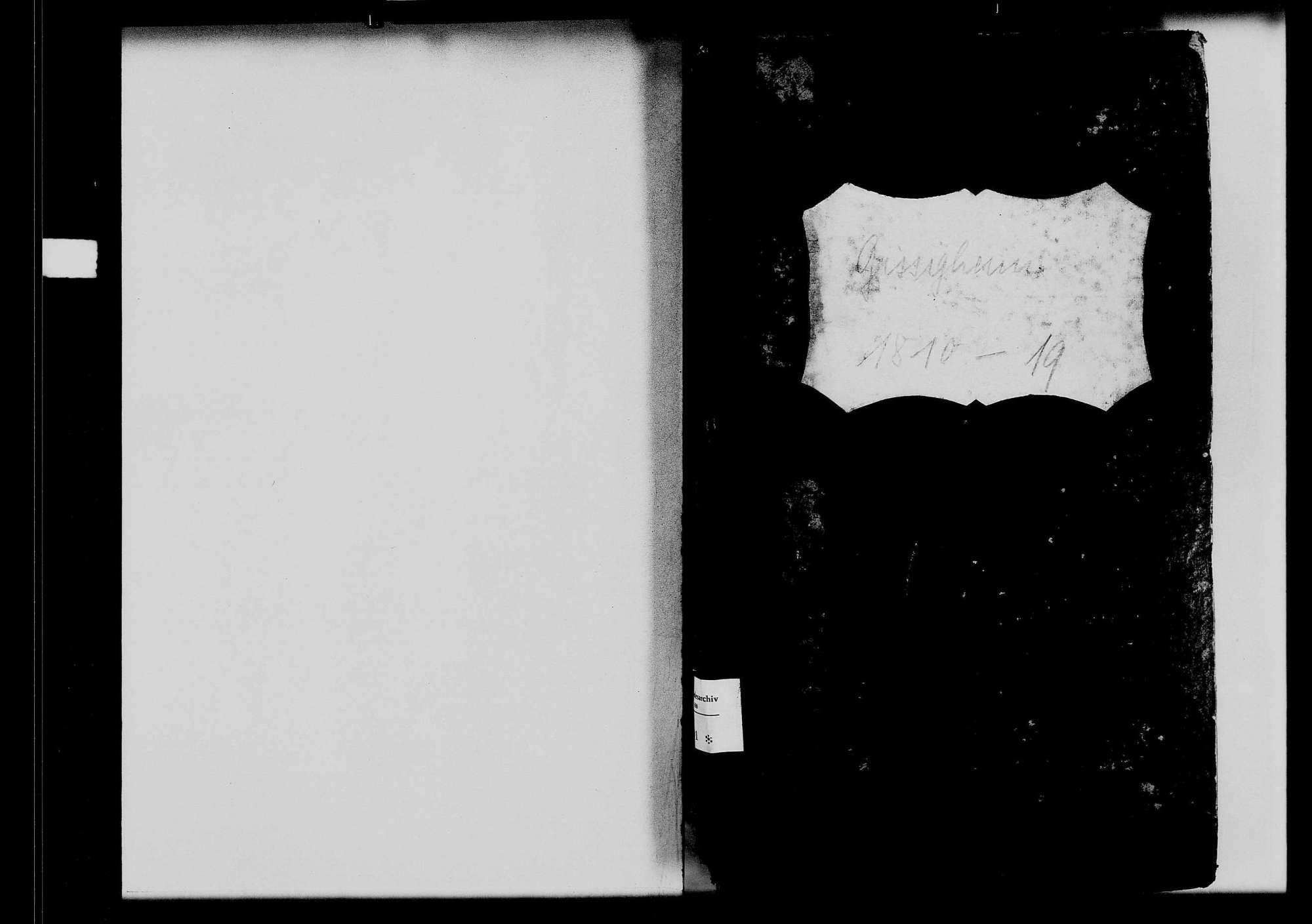 Gissigheim, katholische und israelitische Gemeinde: Standesbuch 1810-1819, Bild 1