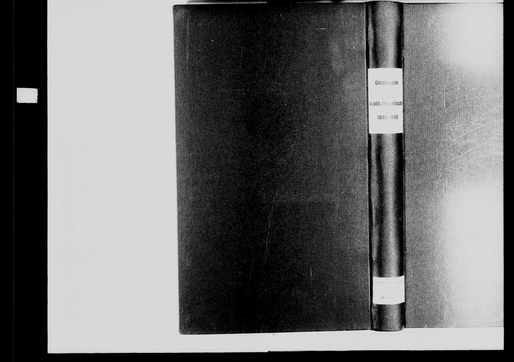 Gissigheim, katholische und israelitische Gemeinde: Standesbuch 1840-1849, Bild 2