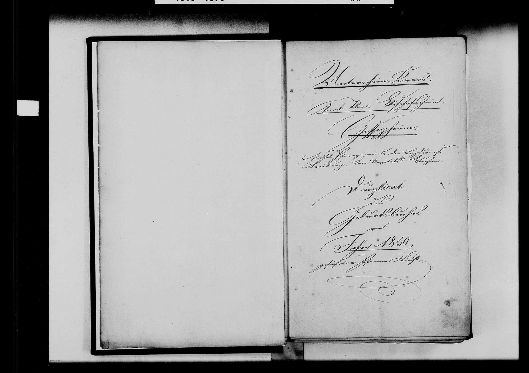Gissigheim, katholische und israelitische Gemeinde: Standesbuch 1850-1859, Bild 3