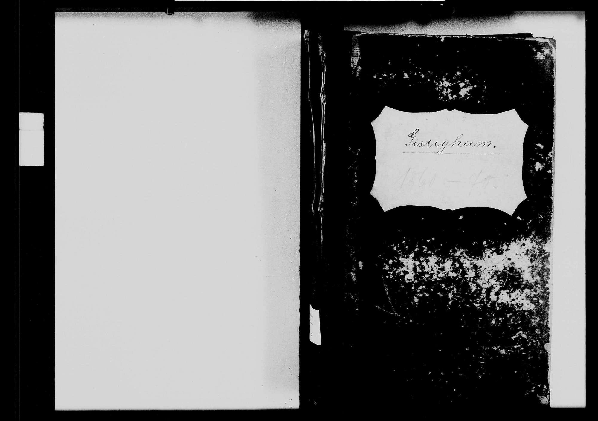 Gissigheim, katholische und israelitische Gemeinde: Standesbuch 1860-1870, Bild 1