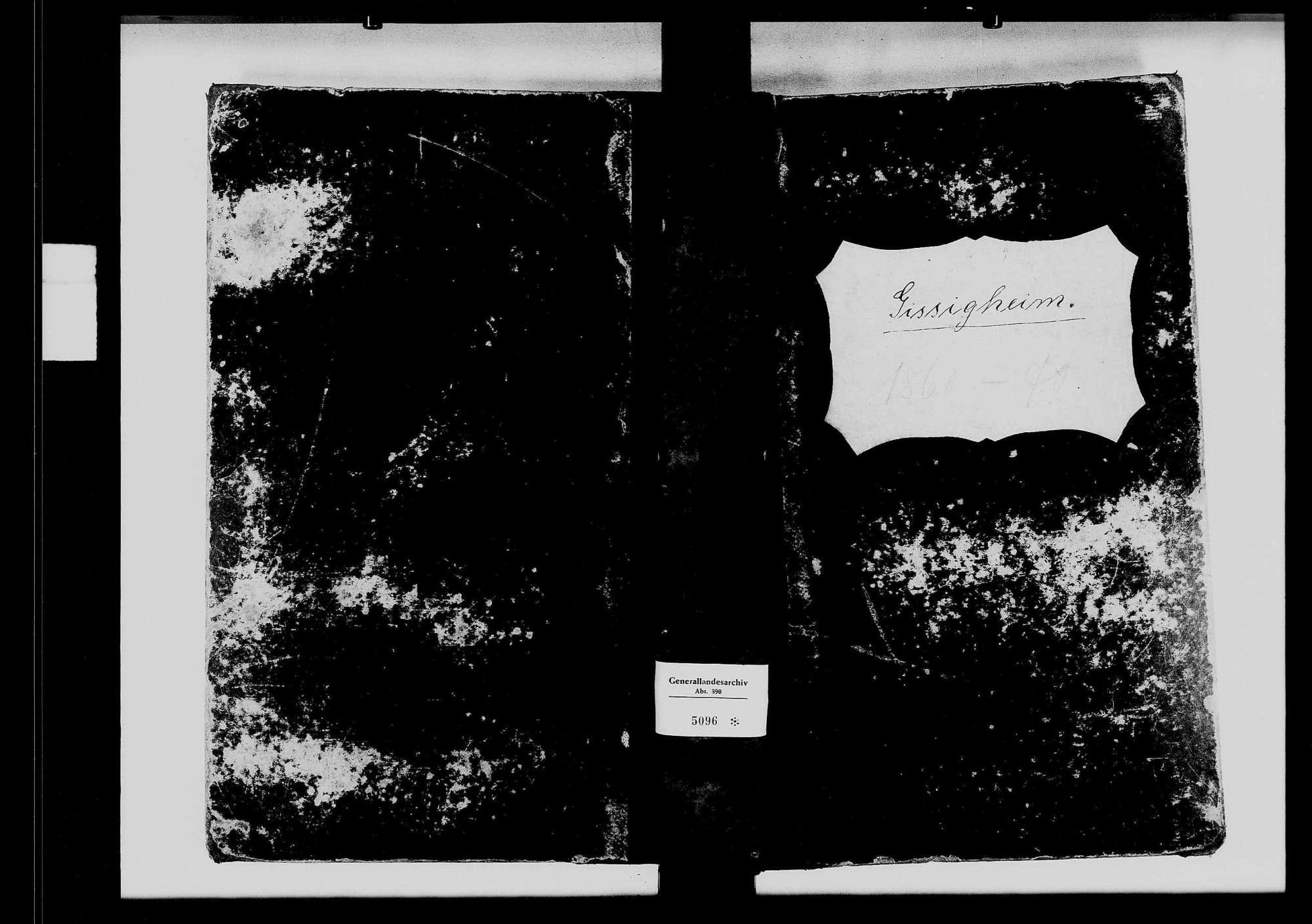 Gissigheim, katholische und israelitische Gemeinde: Standesbuch 1860-1870, Bild 2