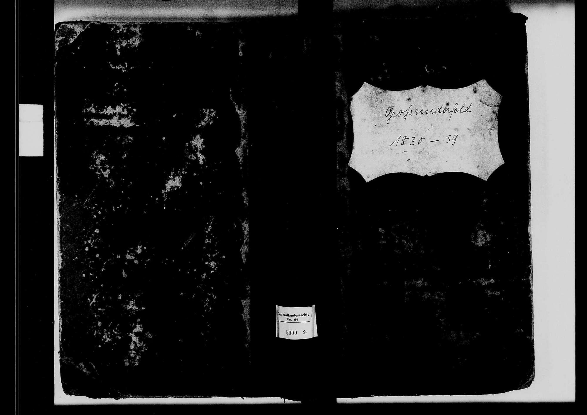 Großrinderfeld, katholische Gemeinde: Standesbuch 1830-1839, Bild 2