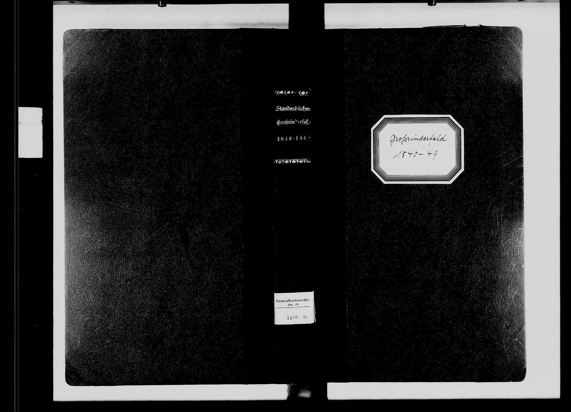 Großrinderfeld, katholische Gemeinde: Standesbuch 1840-1849, Bild 3