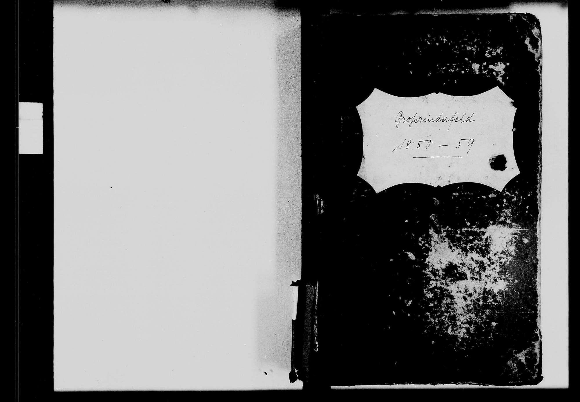 Großrinderfeld, katholische Gemeinde: Standesbuch 1850-1859, Bild 1
