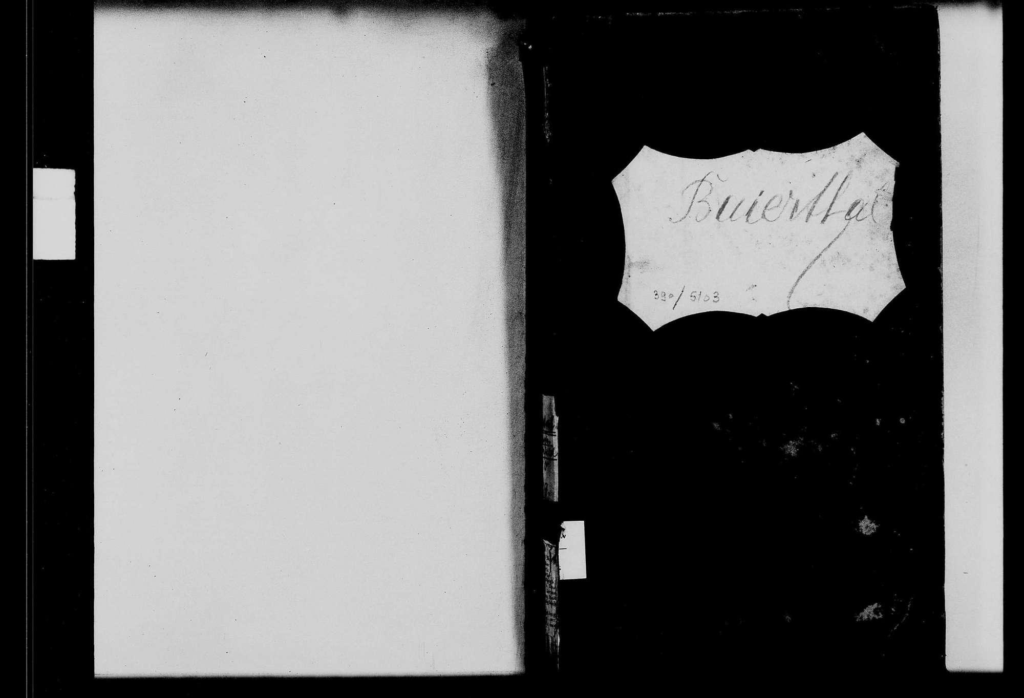 Großrinderfeld, Ortsteil Hof Baiertal, katholische Gemeinde: Standesbuch 1810-1859, Bild 1