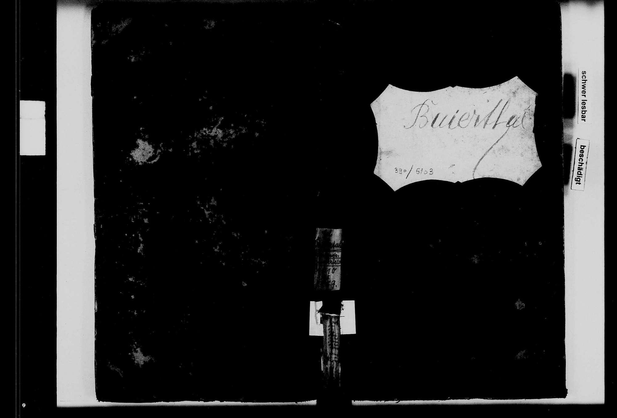 Großrinderfeld, Ortsteil Hof Baiertal, katholische Gemeinde: Standesbuch 1810-1859, Bild 2