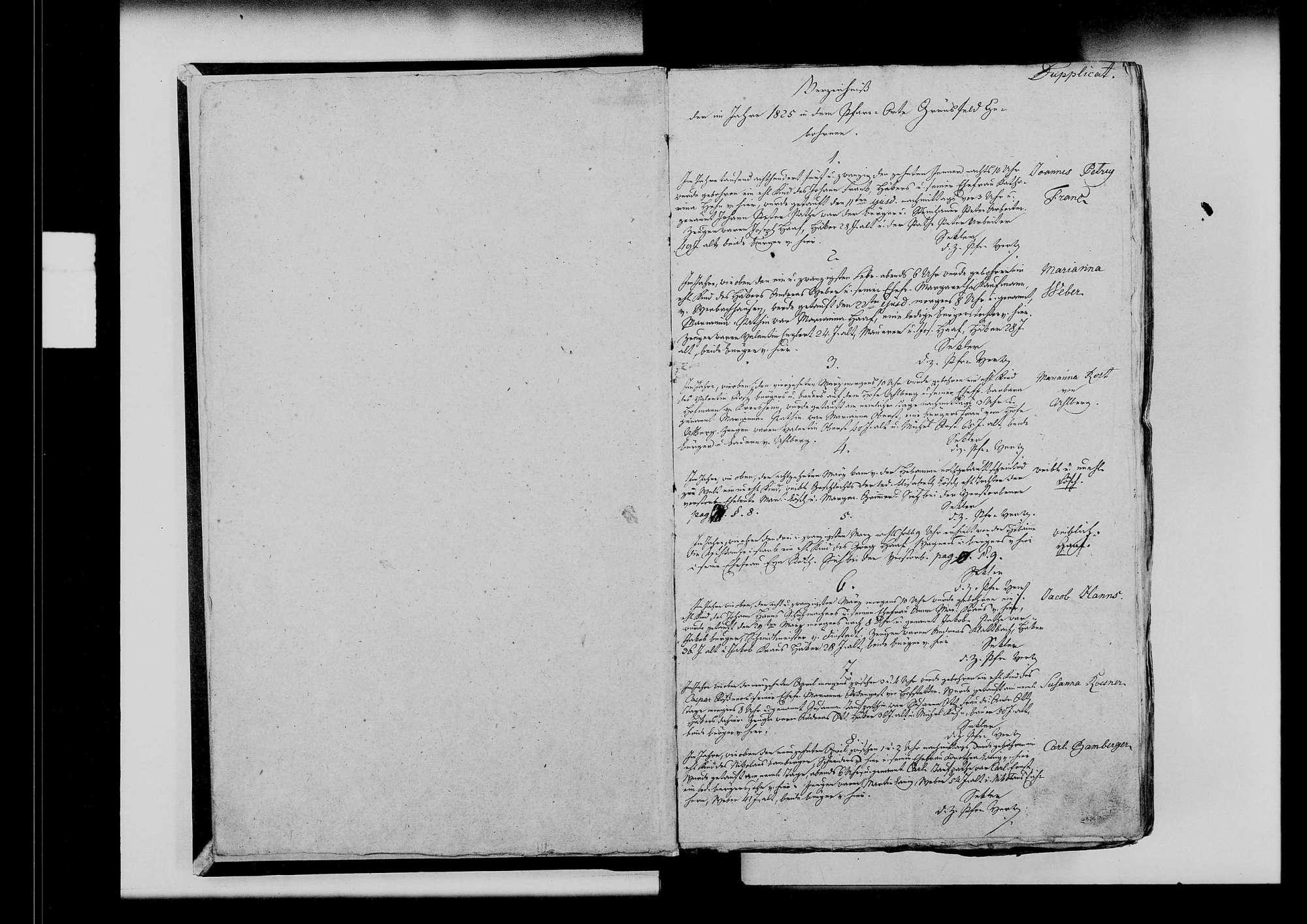 Grünsfeld, katholische und israelitische Gemeinde: Standesbuch 1825-1840, Bild 3