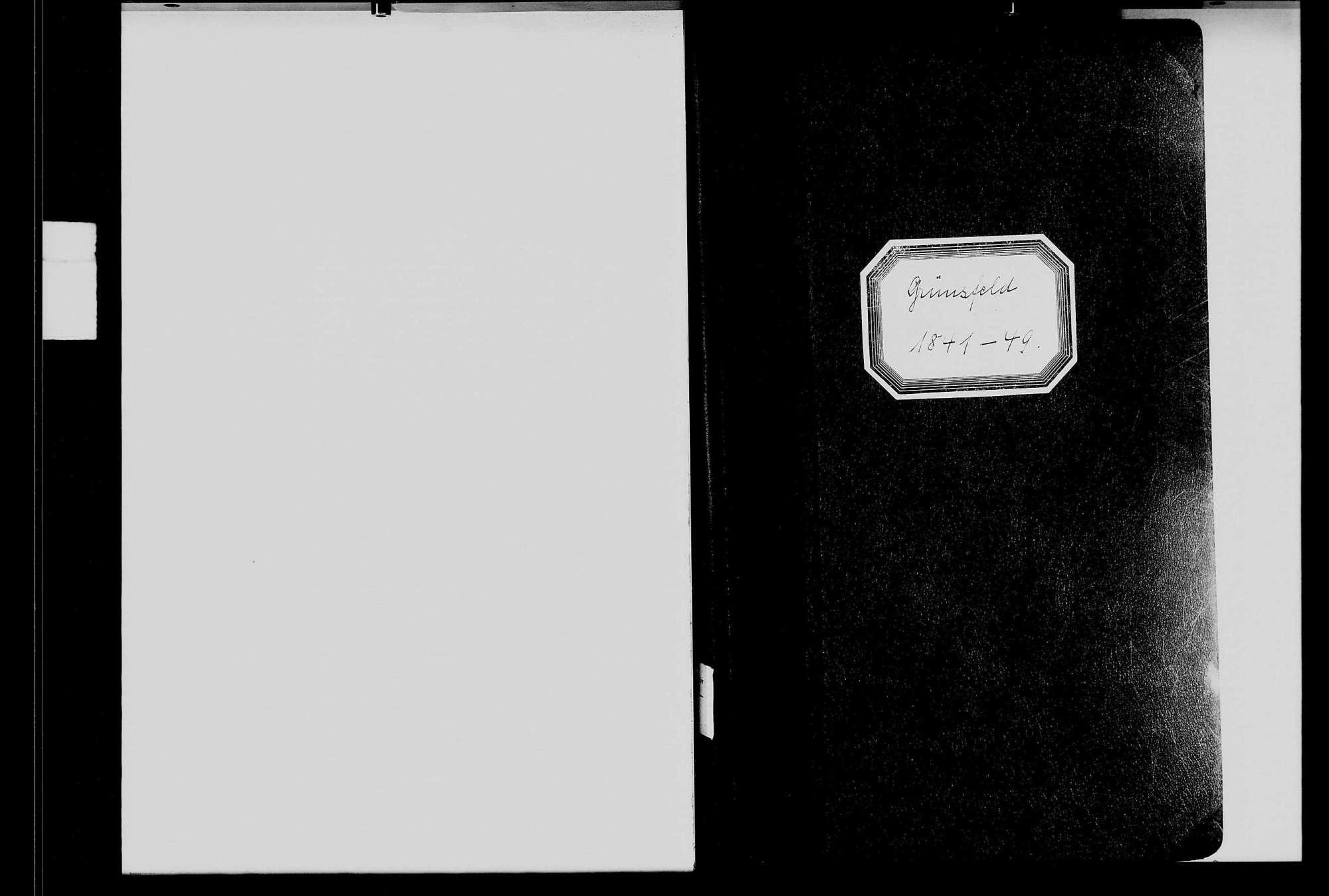 Grünsfeld, katholische und israelitische Gemeinde: Standesbuch 1841-1849, Bild 1