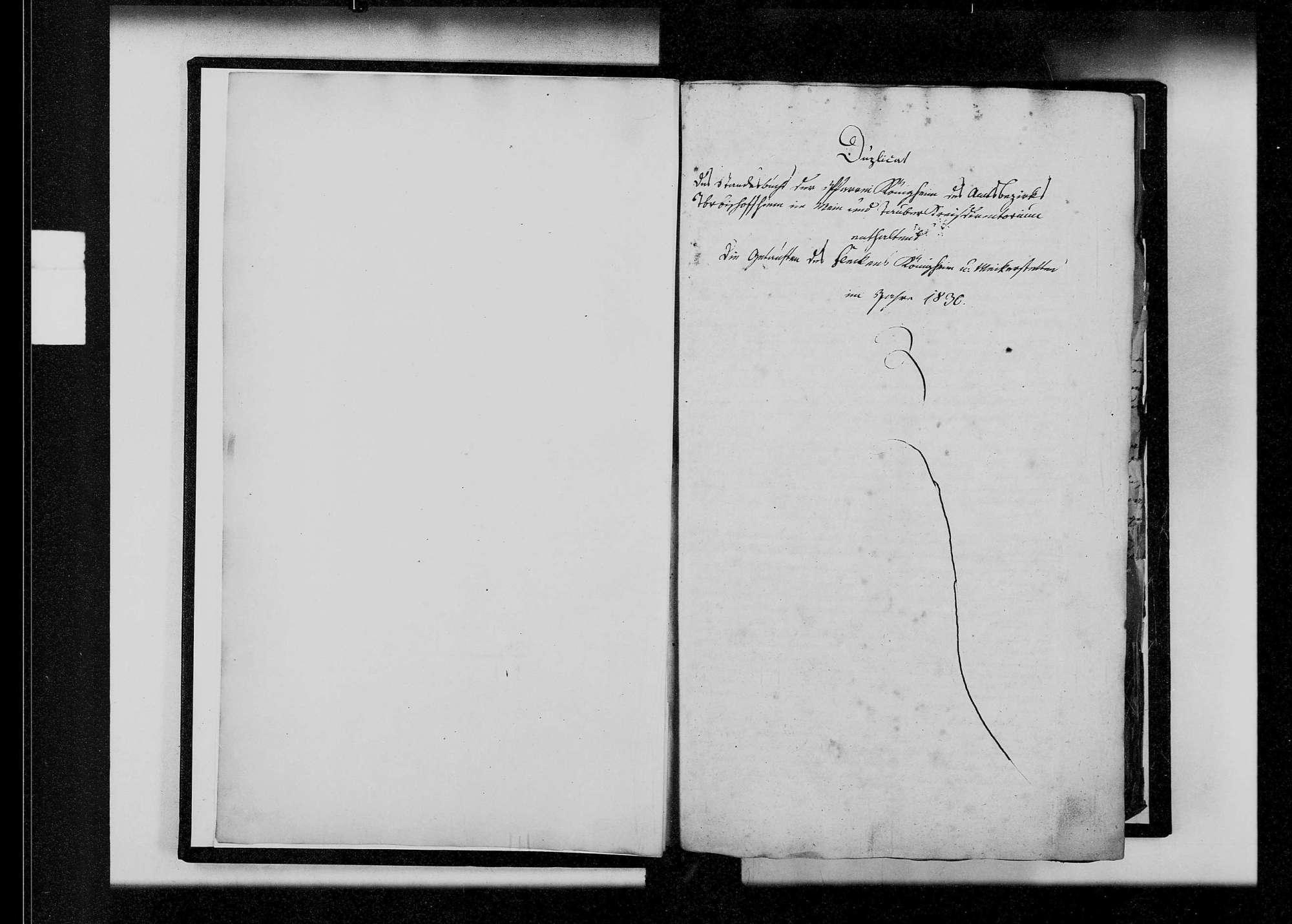 Königheim, katholische und israelitische Gemeinde: Standesbuch 1830-1839, Bild 3
