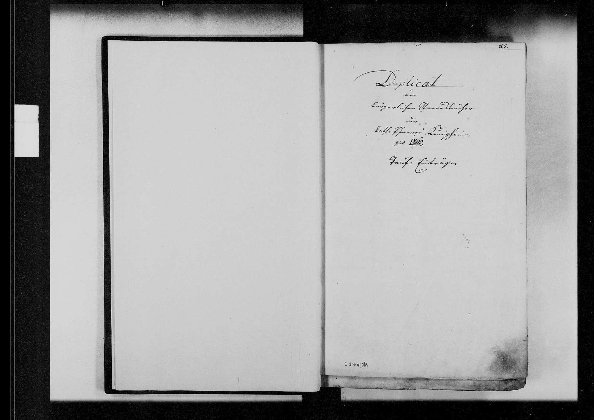 Königheim, katholische und israelitische Gemeinde: Standesbuch 1860-1870, Bild 3