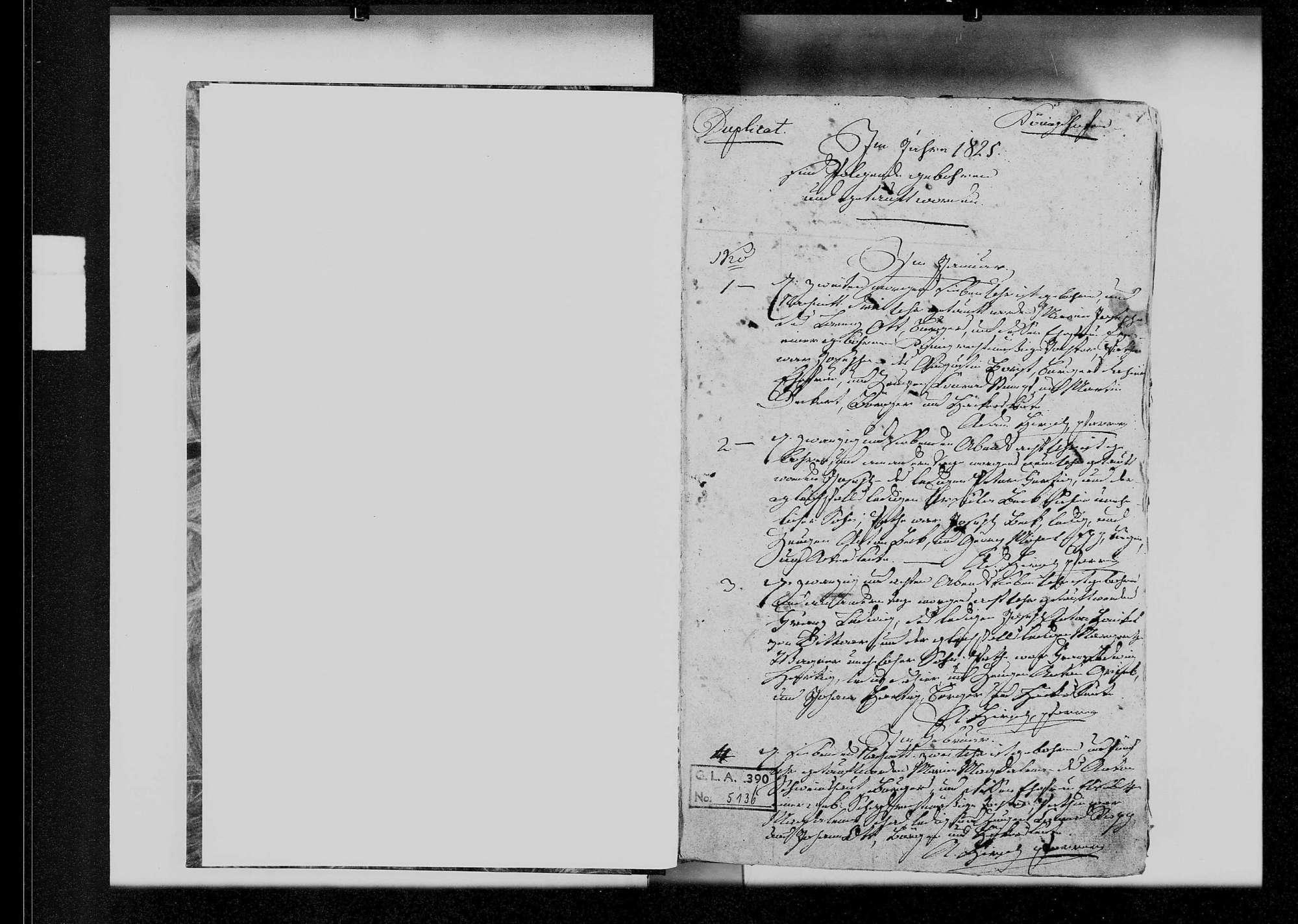 Königshofen, katholische und israelitische Gemeinde: Standesbuch 1825-1840, Bild 2