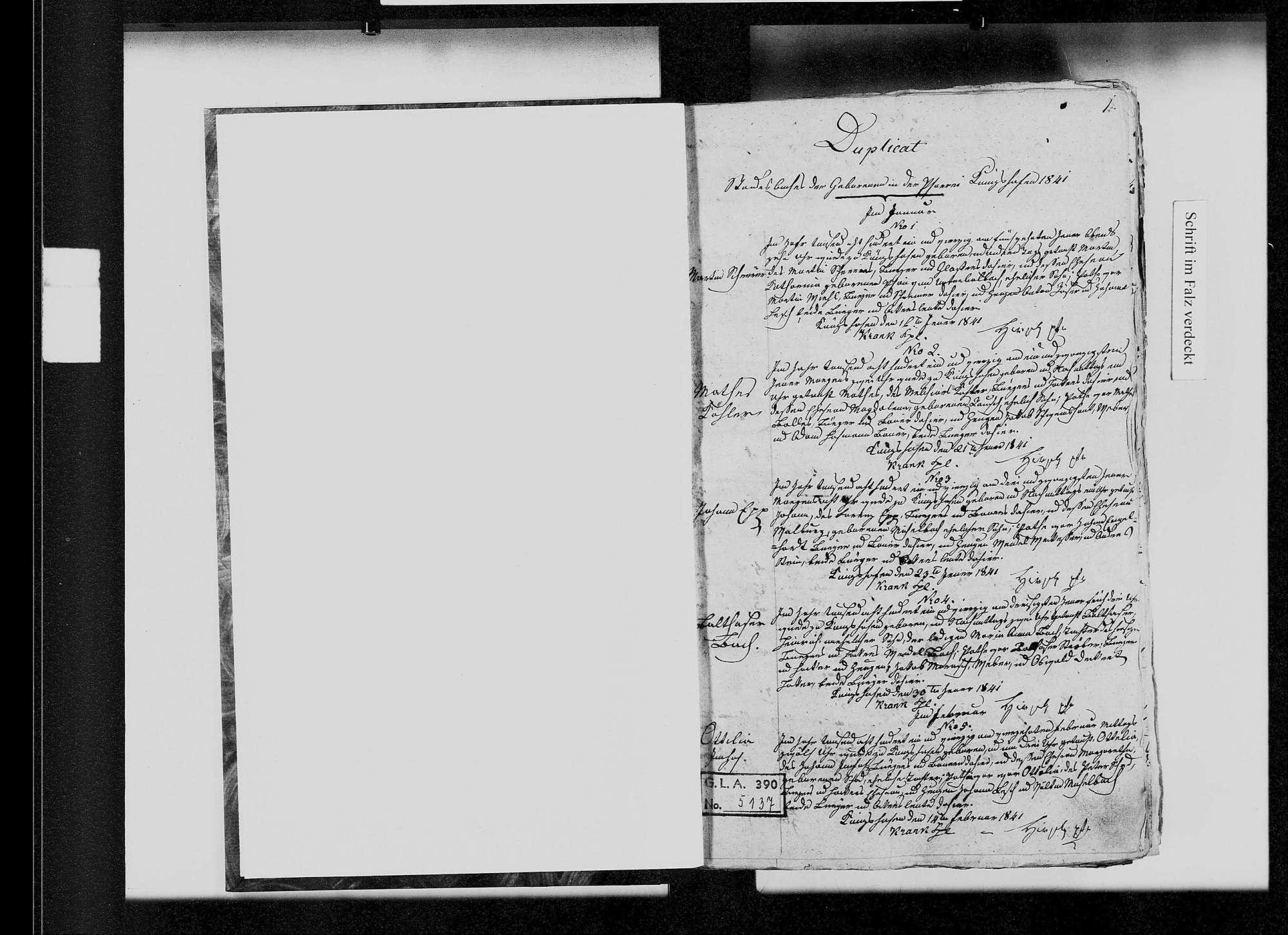Königshofen, katholische und israelitische Gemeinde: Standesbuch 1841-1851, Bild 2