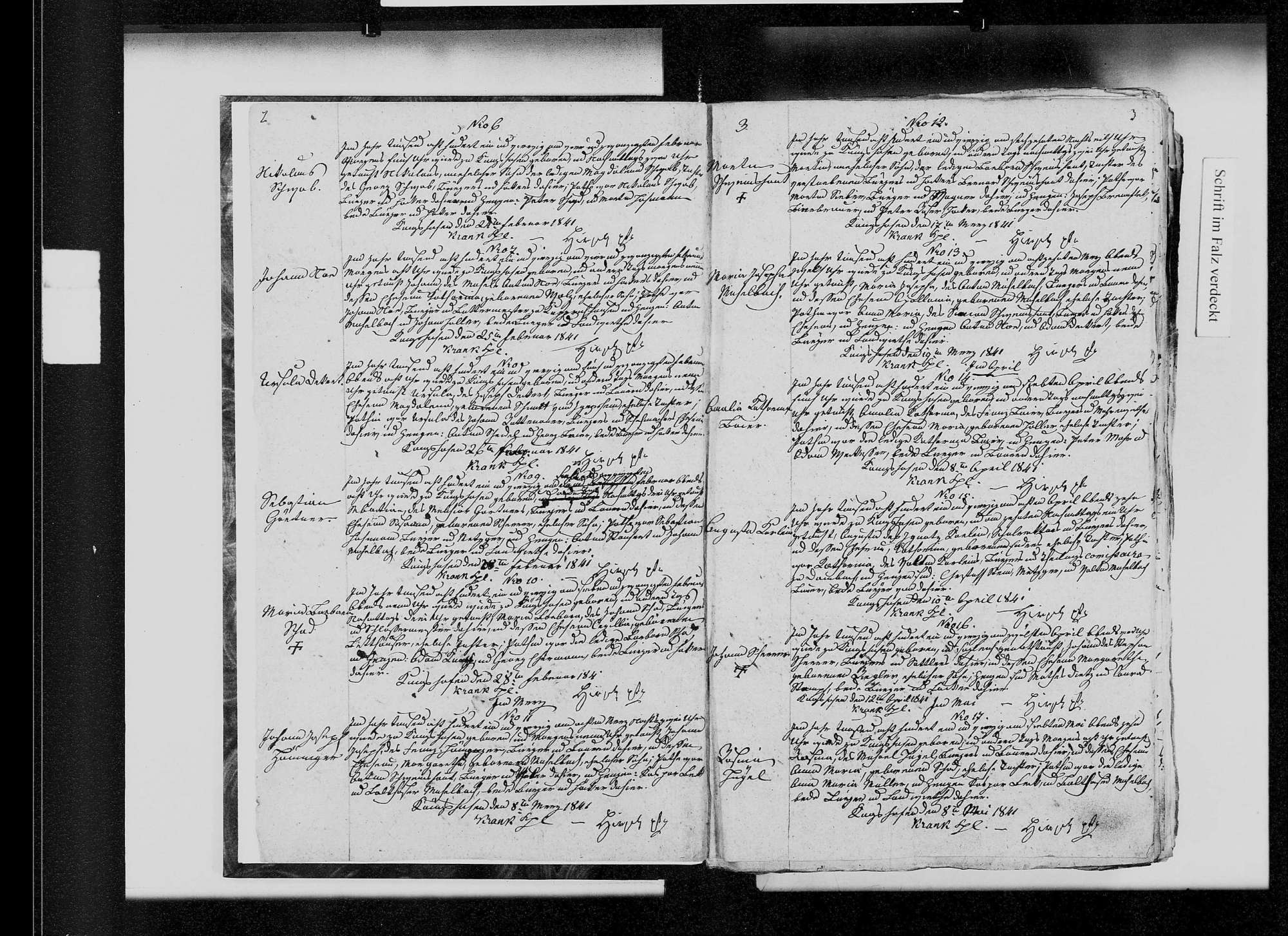 Königshofen, katholische und israelitische Gemeinde: Standesbuch 1841-1851, Bild 3