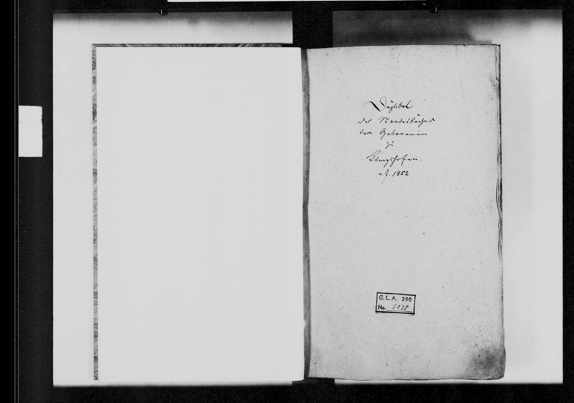 Königshofen, katholische und israelitische Gemeinde: Standesbuch 1852-1860, Bild 2