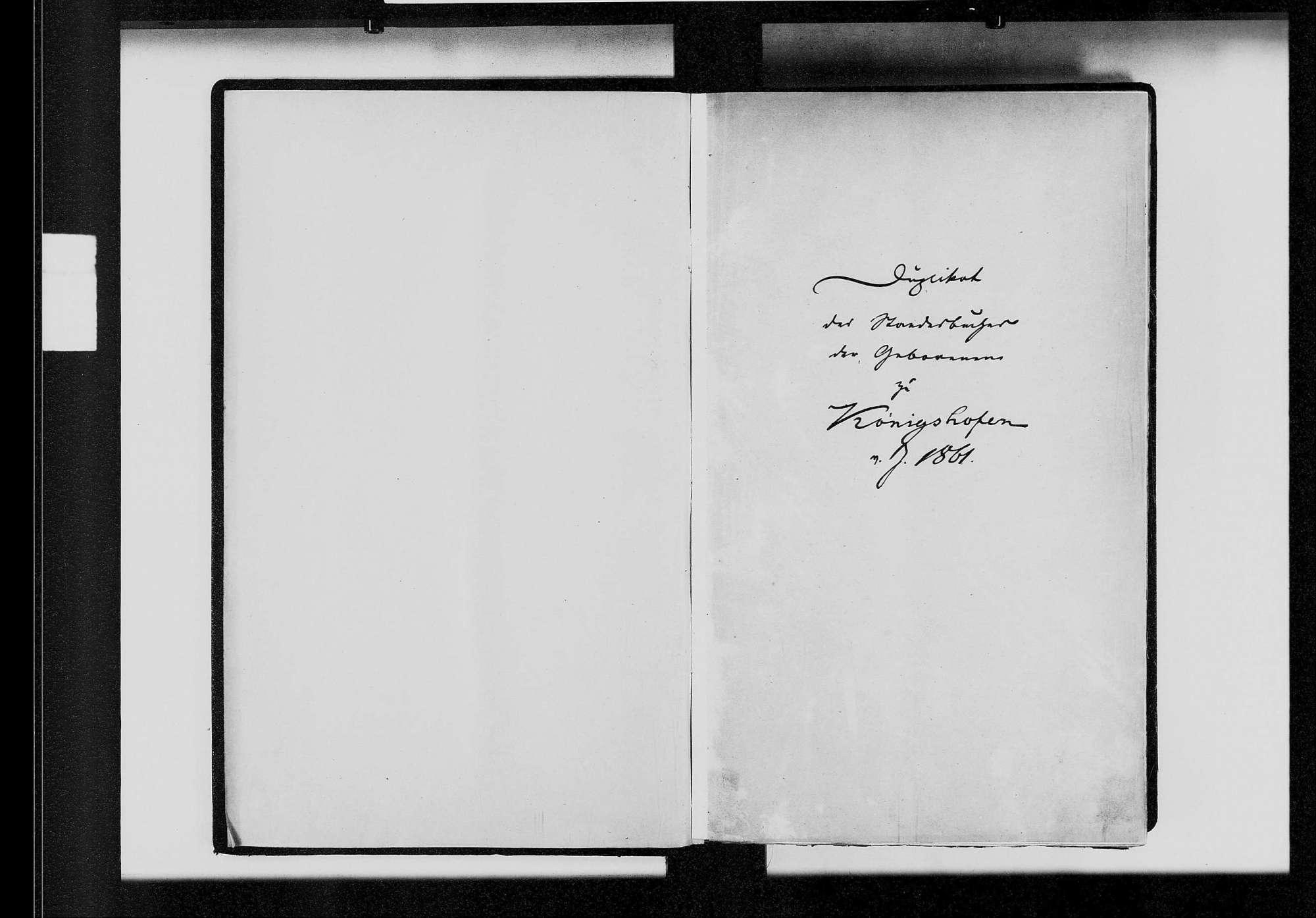 Königshofen, katholische und israelitische Gemeinde: Standesbuch 1861-1870, Bild 3