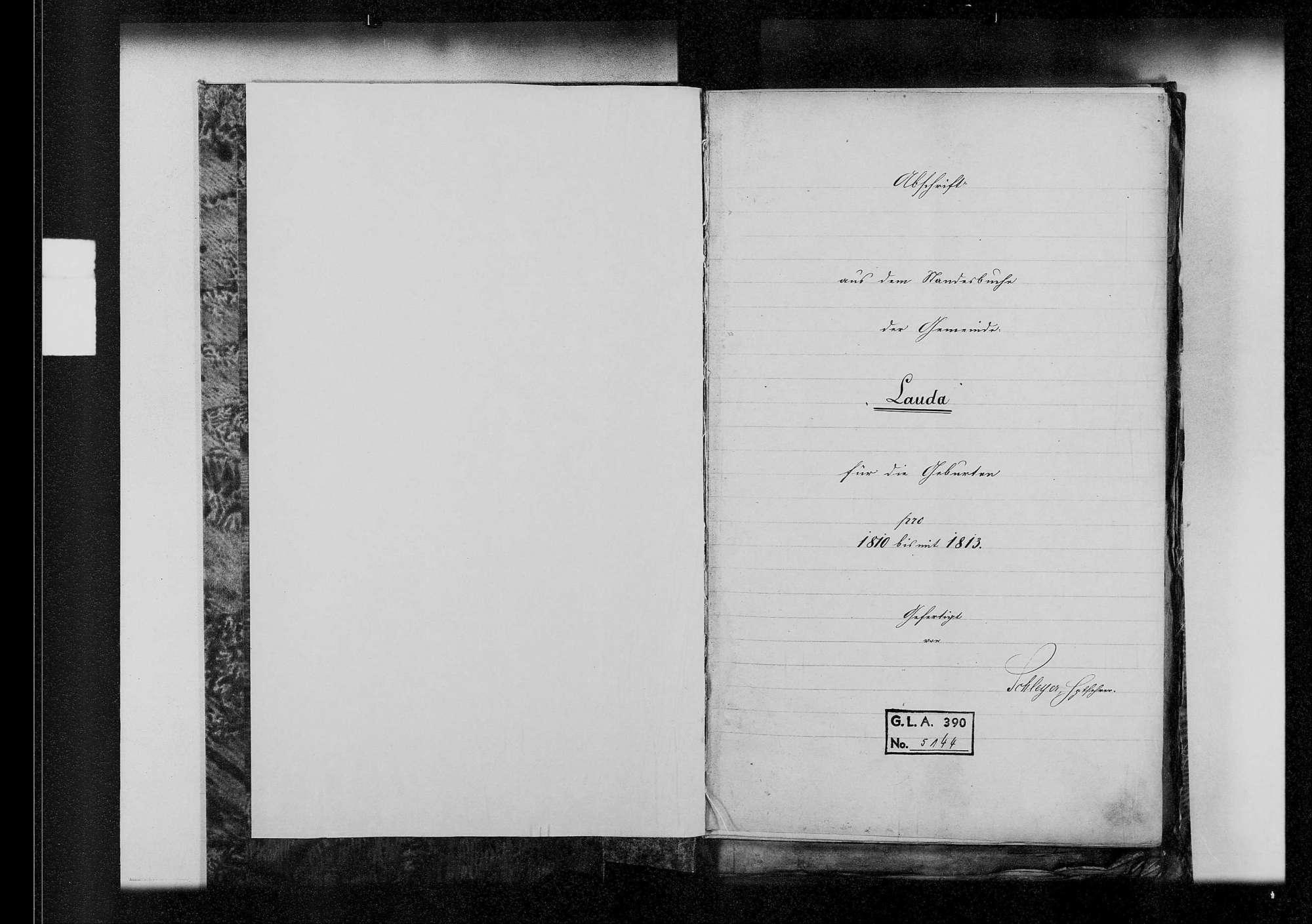 Lauda, katholische Gemeinde: Standesbuch 1810-1824, Bild 2