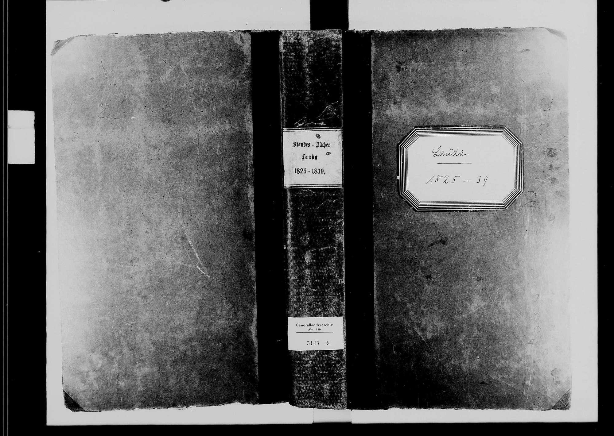 Lauda, katholische Gemeinde: Standesbuch 1825-1839, Bild 2