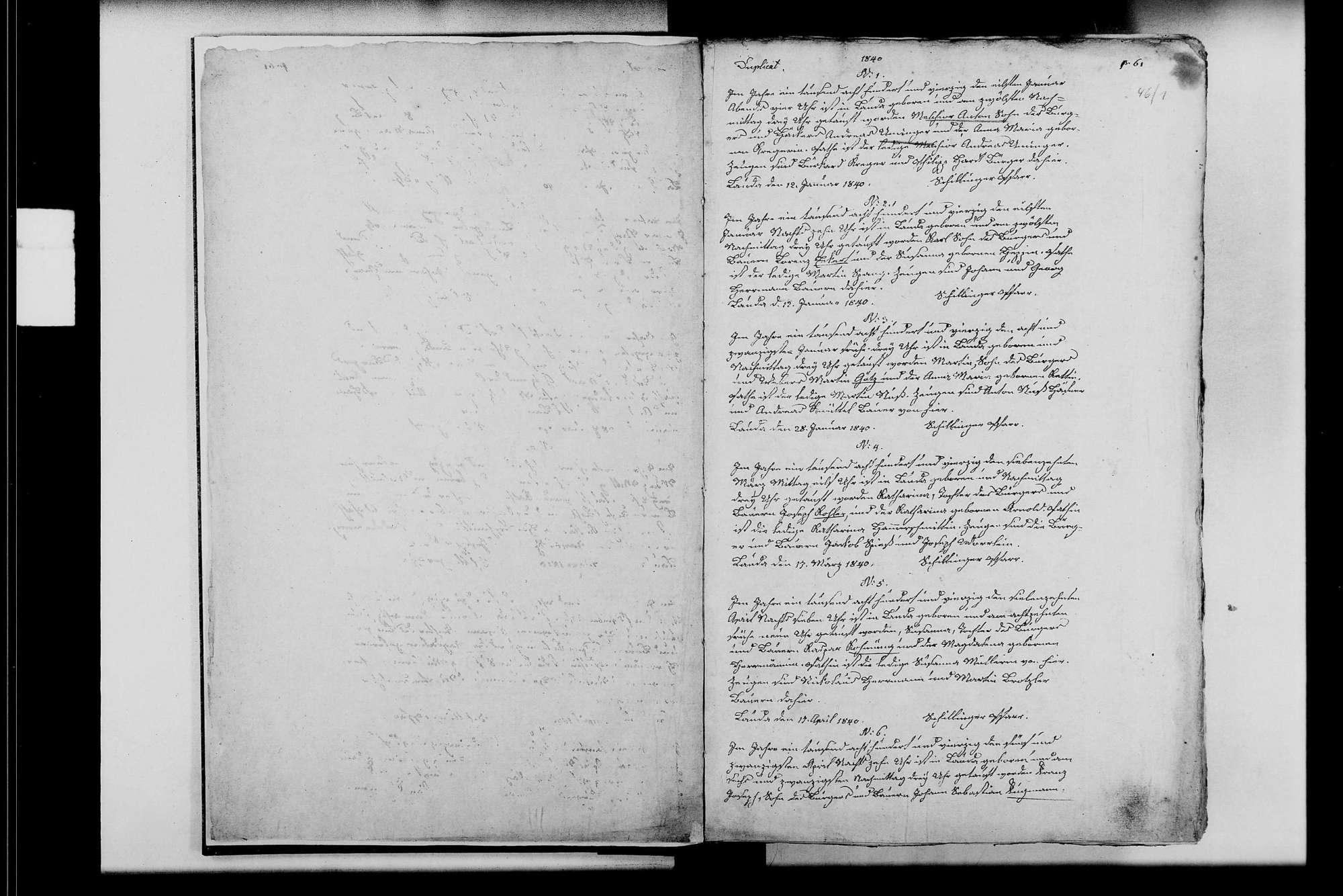 Lauda, katholische Gemeinde: Standesbuch 1840-1854, Bild 3