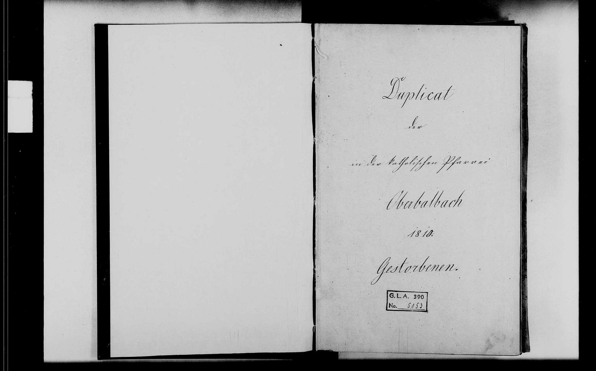Oberbalbach, katholische Gemeinde: Standesbuch 1810-1818, Bild 2