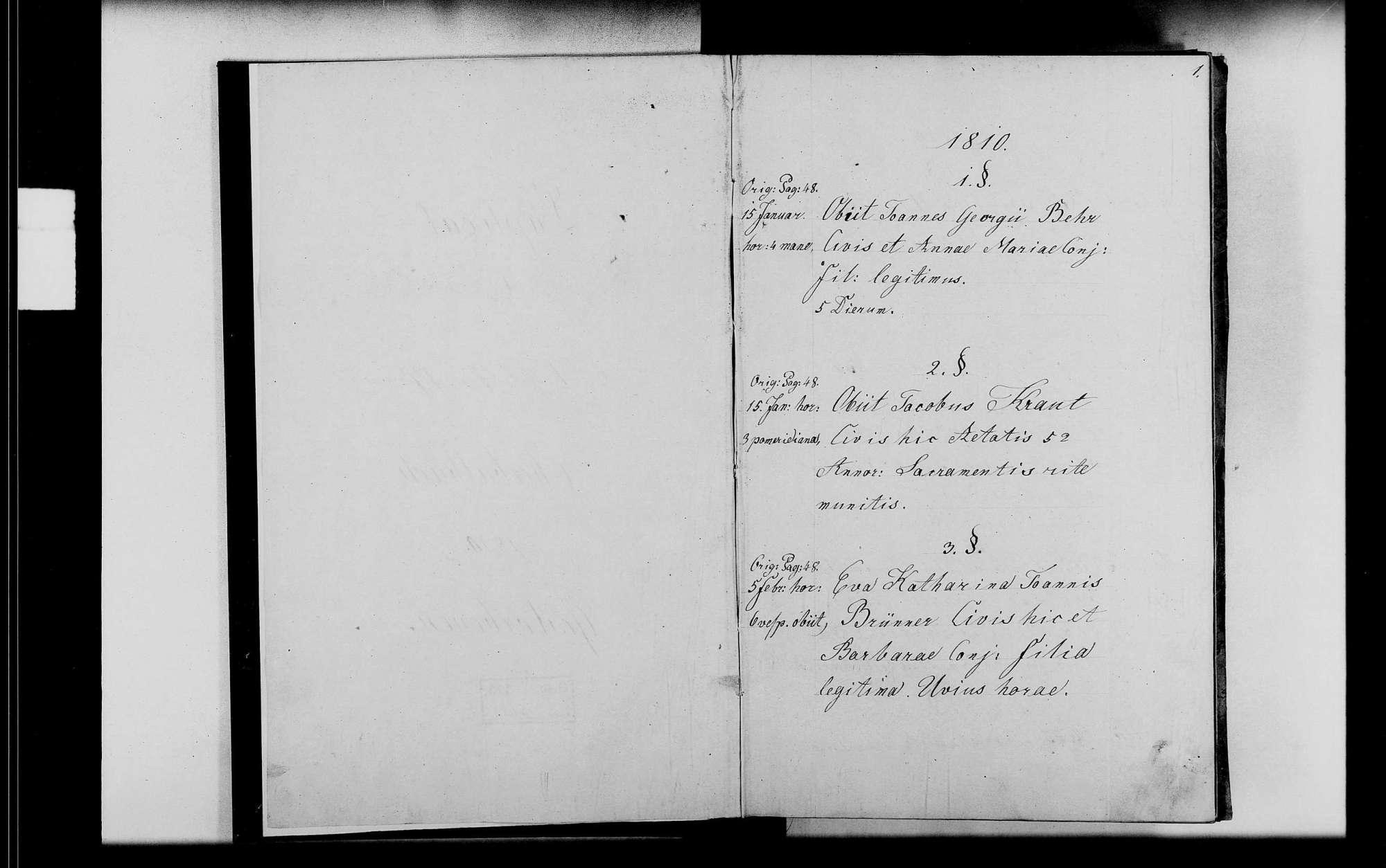 Oberbalbach, katholische Gemeinde: Standesbuch 1810-1818, Bild 3