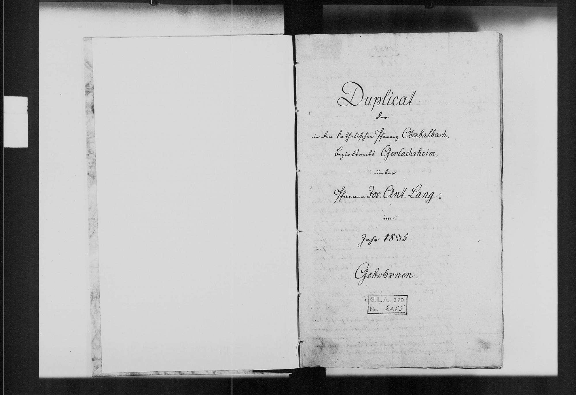 Oberbalbach, katholische Gemeinde: Standesbuch 1835-1844, Bild 2