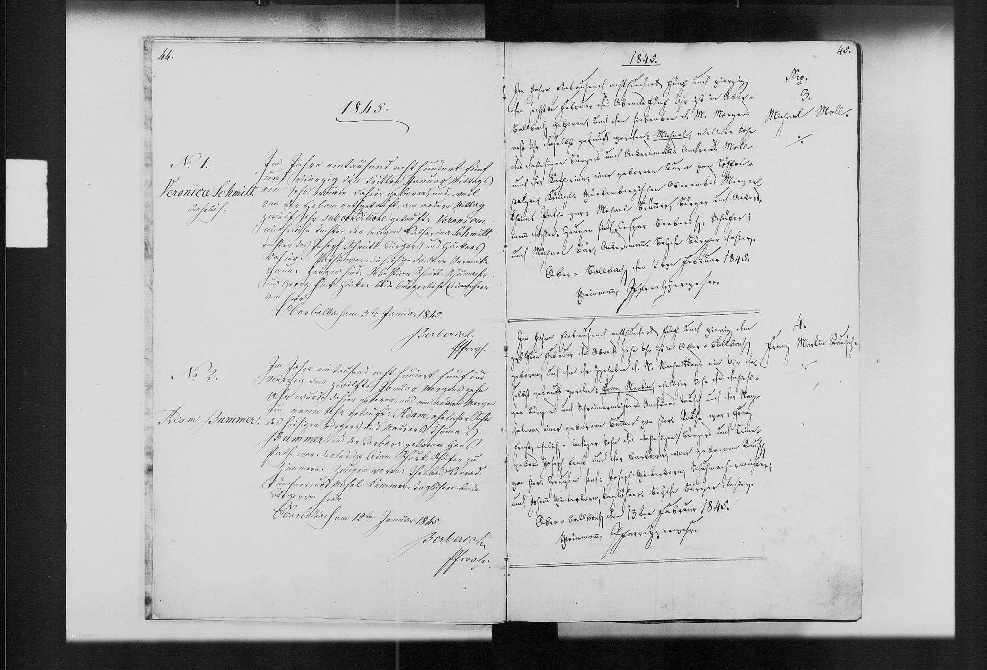 Oberbalbach, katholische Gemeinde: Standesbuch 1845-1854, Bild 3