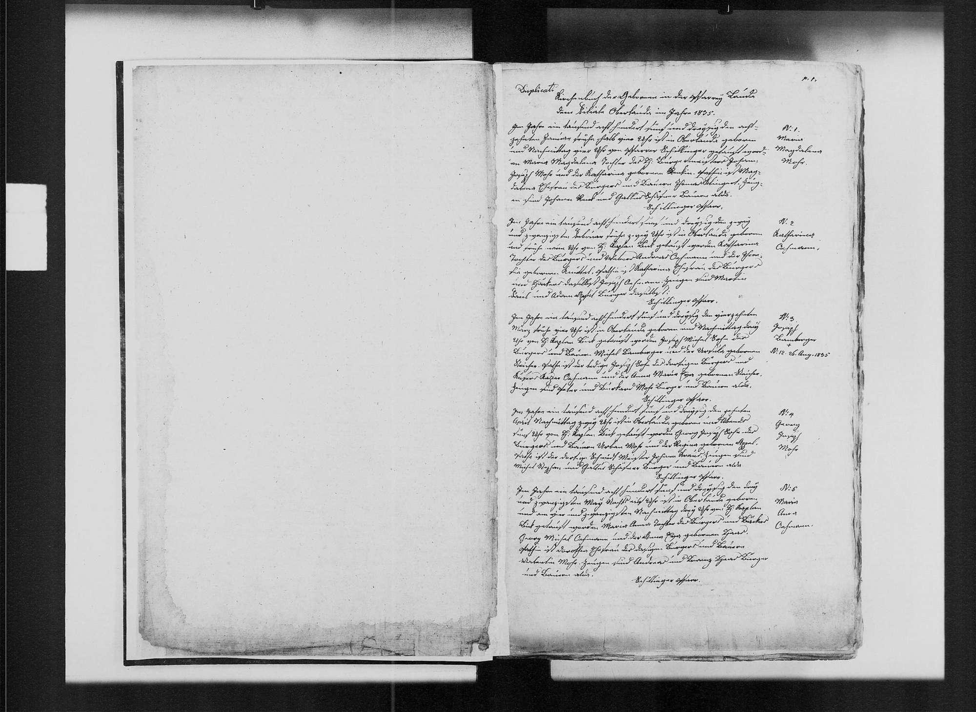 Oberlauda, katholische Gemeinde: Standesbuch 1835-1851, Bild 3