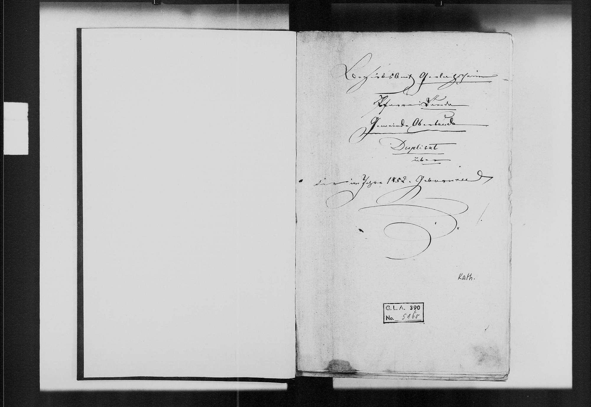 Oberlauda, katholische Gemeinde: Standesbuch 1852-1870, Bild 2
