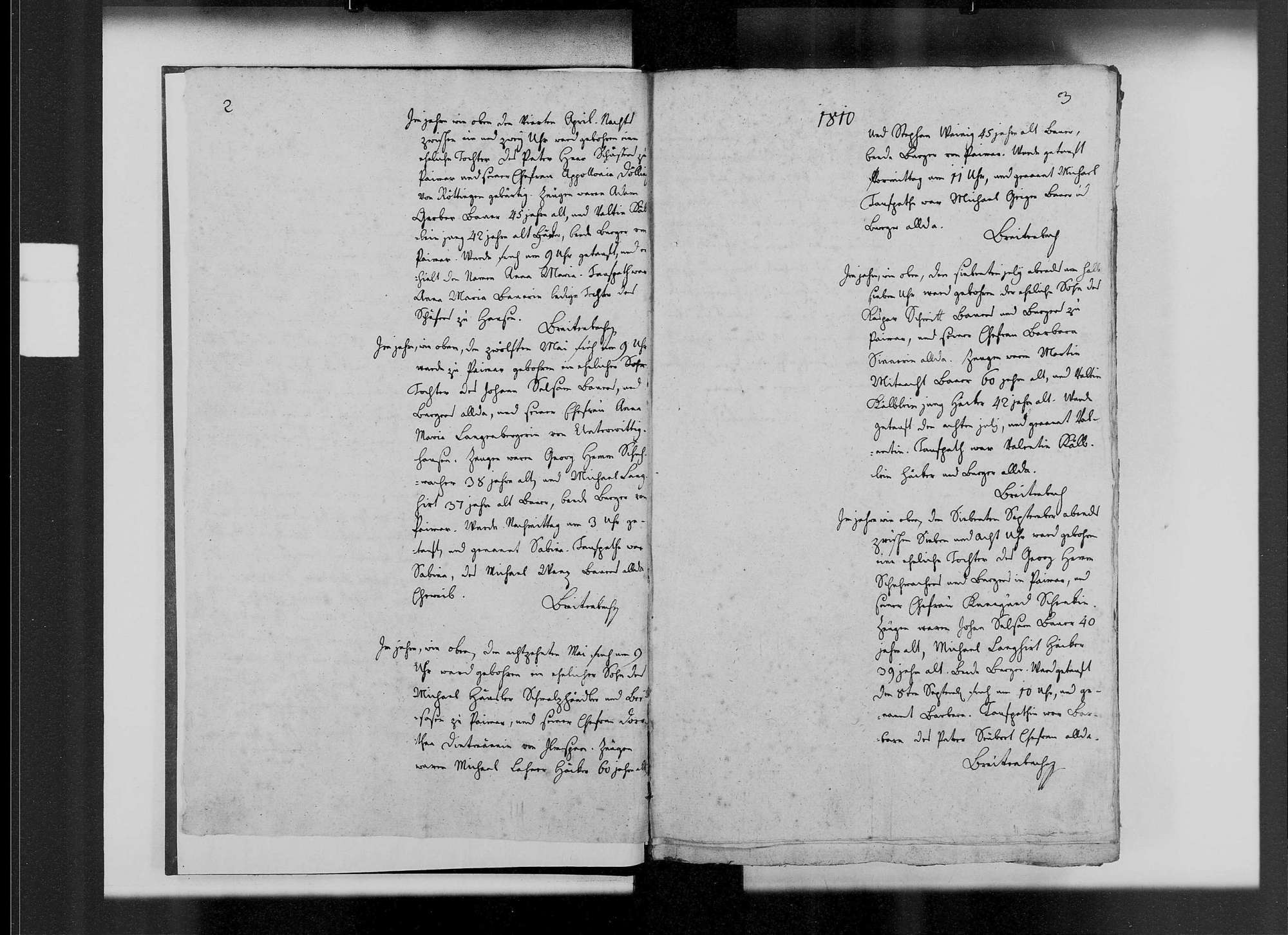 Paimar, katholische Gemeinde: Standesbuch 1810-1841, Bild 3