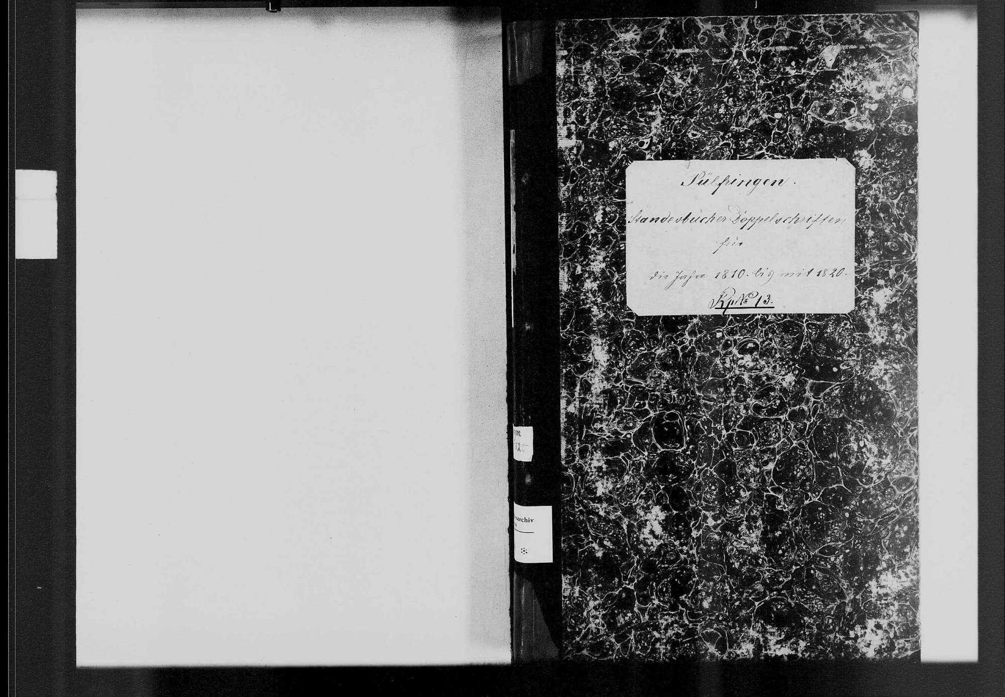 Pülfringen, katholische Gemeinde: Standesbuch 1810-1820, Bild 1